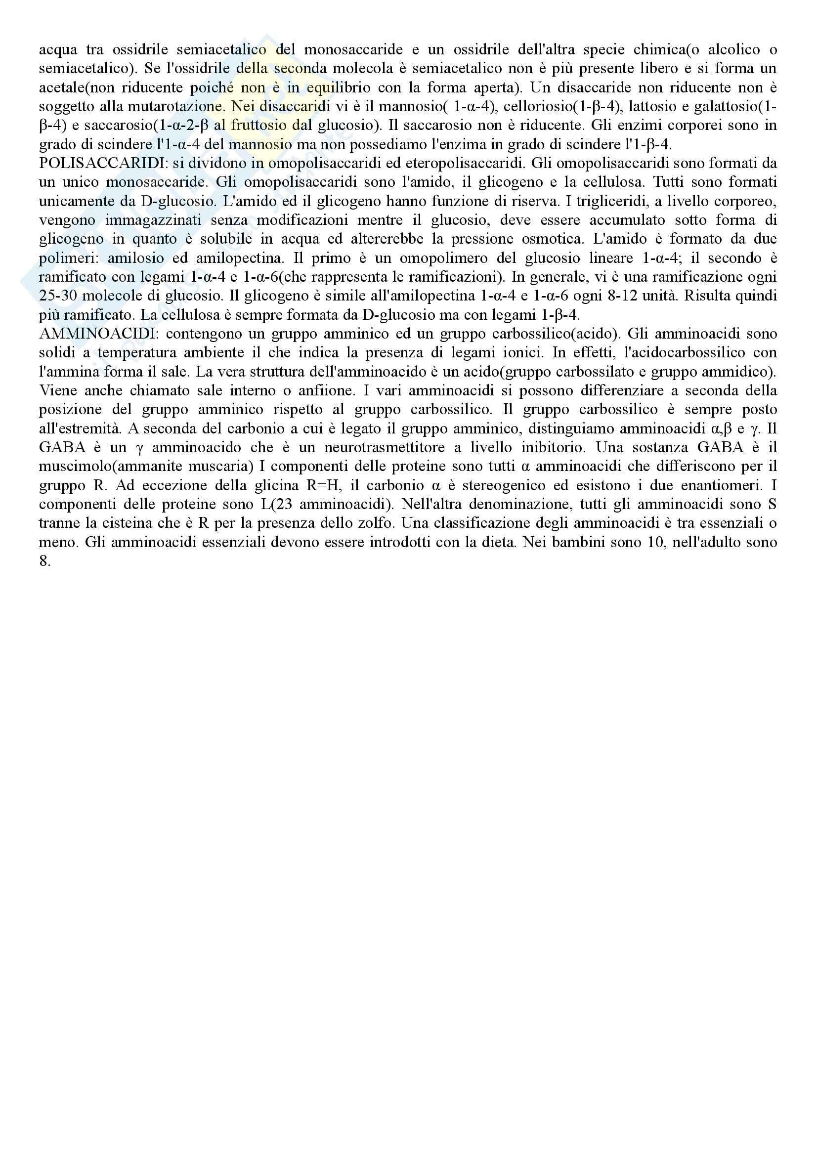 Chimica e Propedeutica biochimica - Appunti Pag. 16