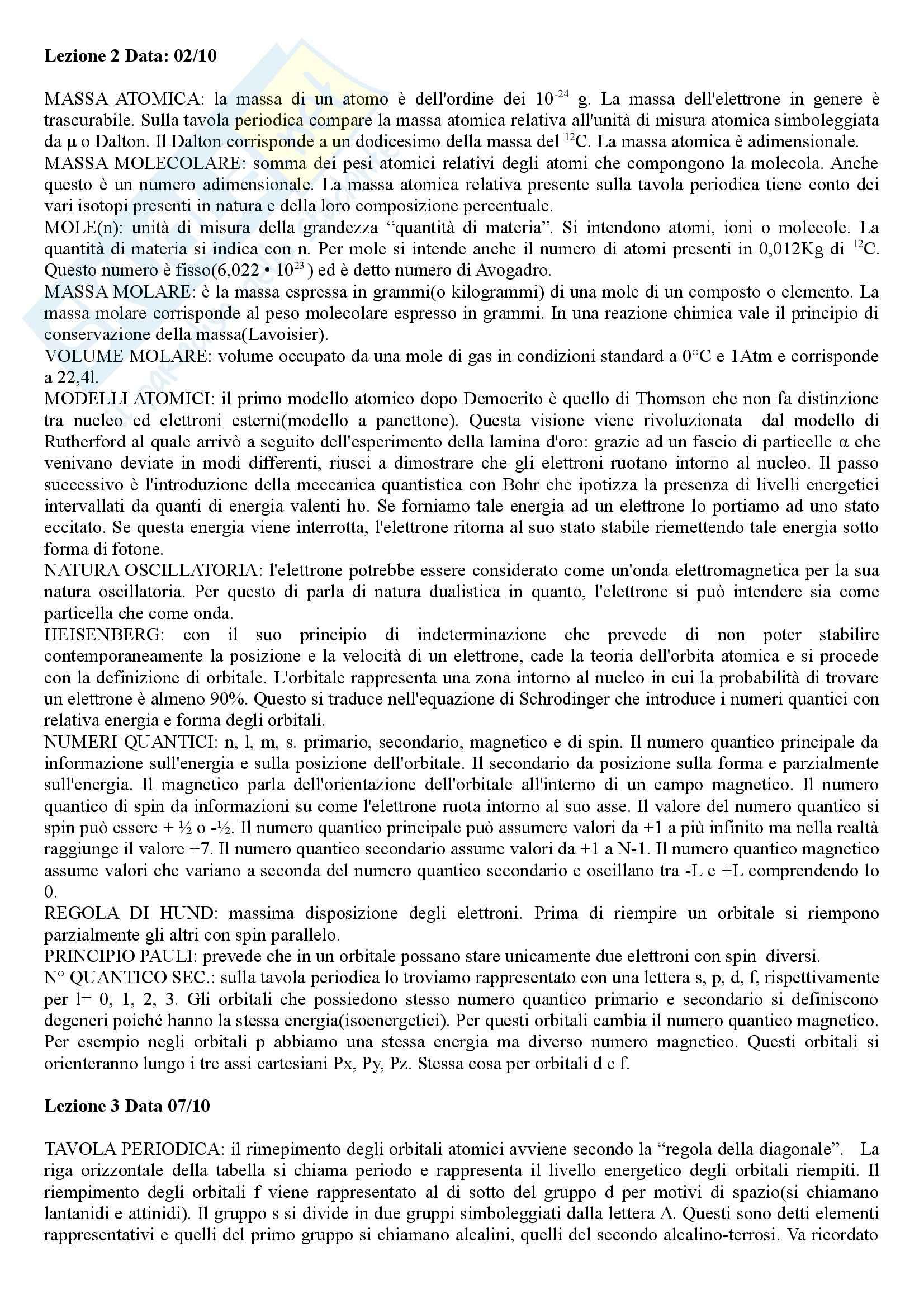 Chimica e Propedeutica biochimica - Appunti Pag. 2