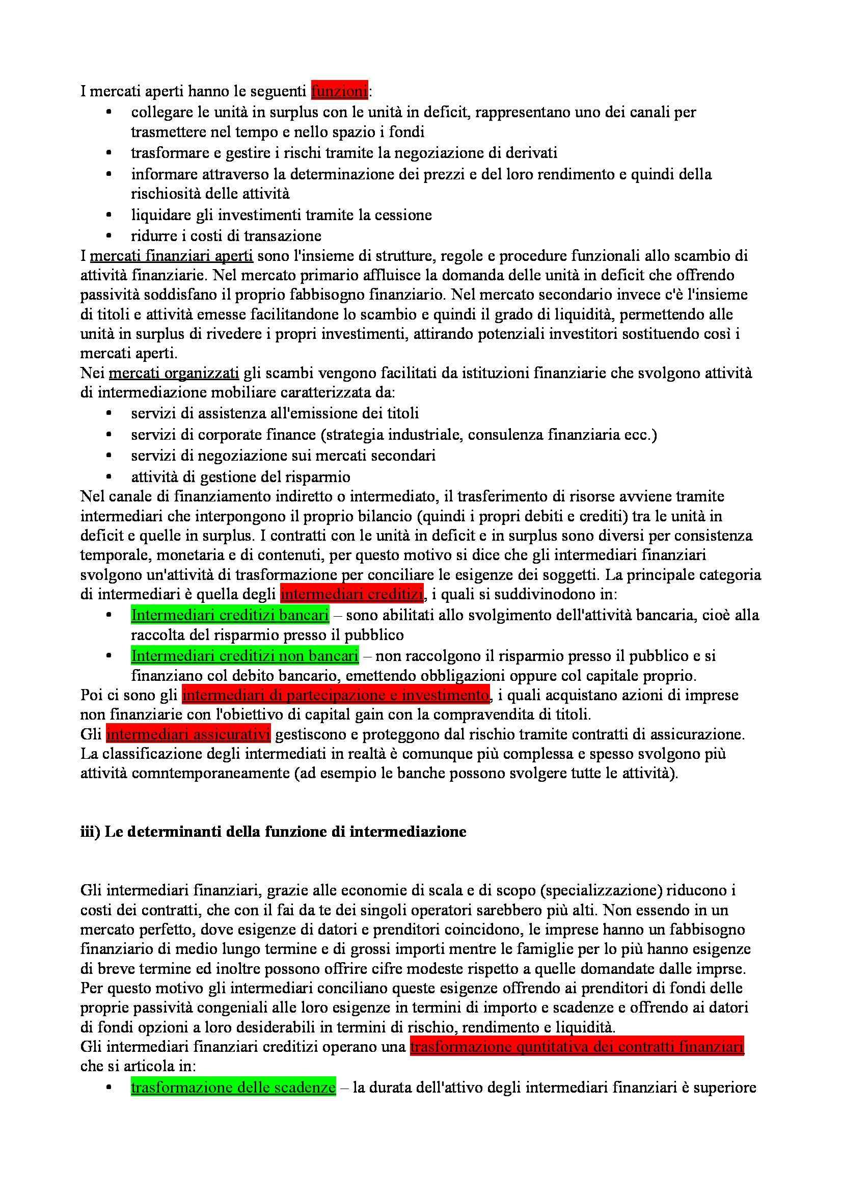 Riassunto esame Economia degli intermediari finanziari, prof. Moro, libro consigliato Banfi Biasin Pag. 11