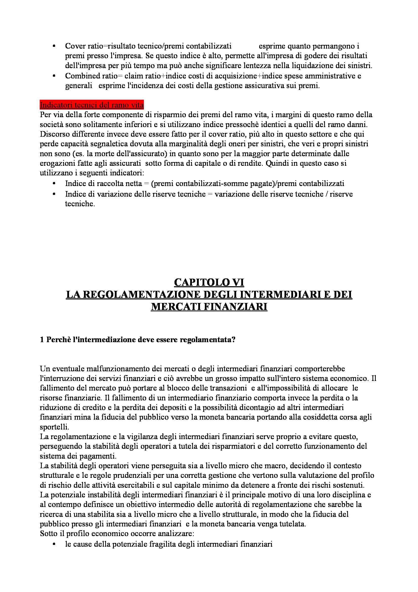 Riassunto esame Economia degli intermediari finanziari, prof. Moro, libro consigliato Banfi Biasin Pag. 36