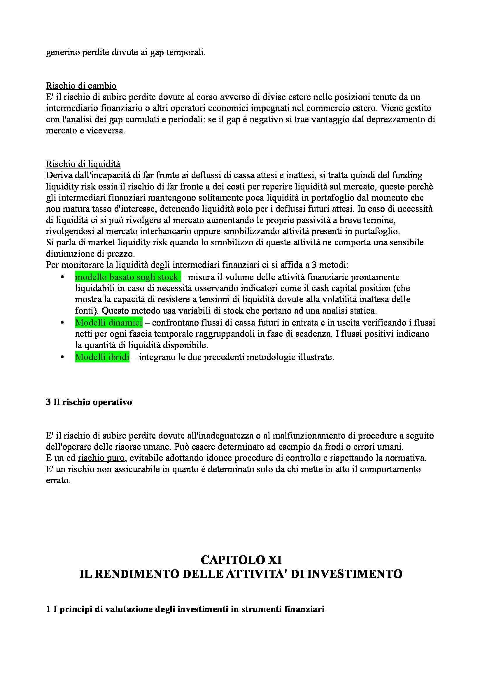 Riassunto esame Economia degli intermediari finanziari, prof. Moro, libro consigliato Banfi Biasin Pag. 66