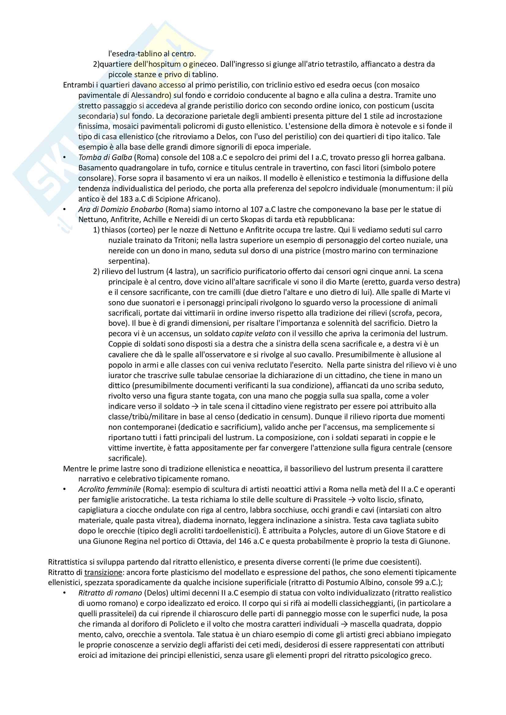 Riassunto esame archeologia romana, prof. Angiolillo, testo consigliato L'Arte dell'Antichità Classica (Etruria Roma) di Bianchi Bandinelli, Torelli Pag. 11