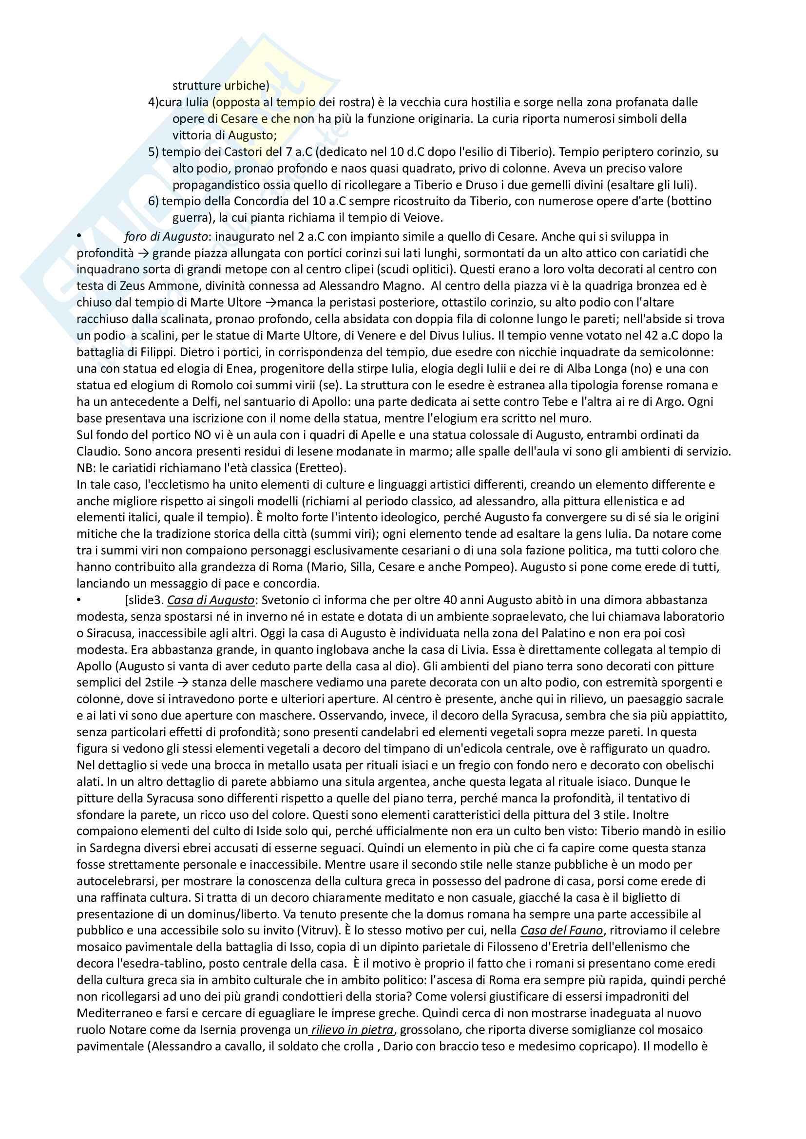 Riassunto esame archeologia romana, prof. Angiolillo, testo consigliato L'Arte dell'Antichità Classica (Etruria Roma) di Bianchi Bandinelli, Torelli Pag. 16