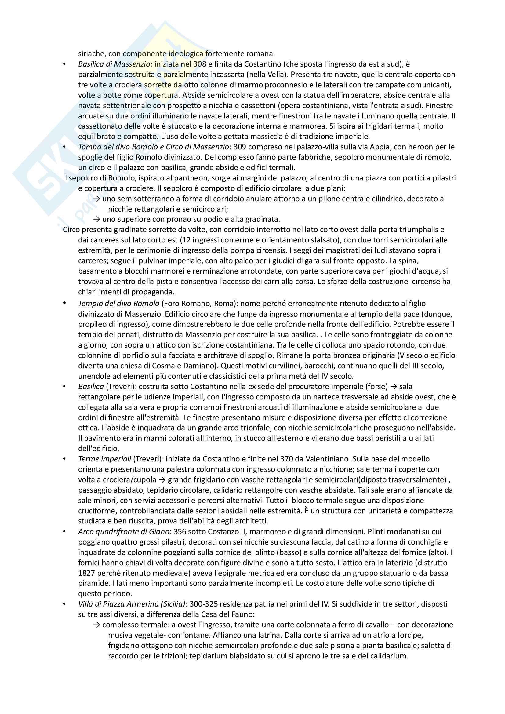 Riassunto esame archeologia romana, prof. Angiolillo, testo consigliato L'Arte dell'Antichità Classica (Etruria Roma) di Bianchi Bandinelli, Torelli Pag. 41