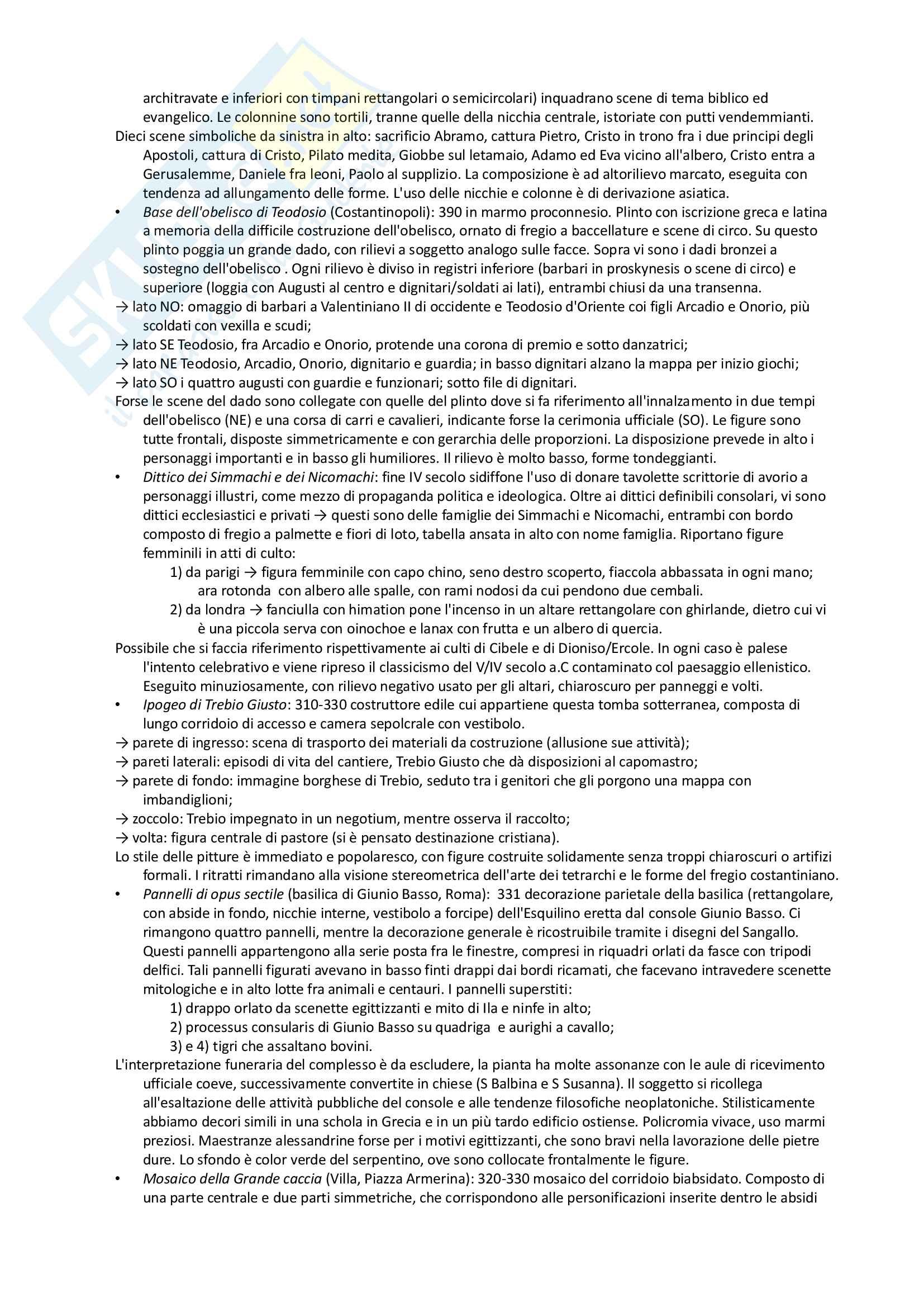Riassunto esame archeologia romana, prof. Angiolillo, testo consigliato L'Arte dell'Antichità Classica (Etruria Roma) di Bianchi Bandinelli, Torelli Pag. 46