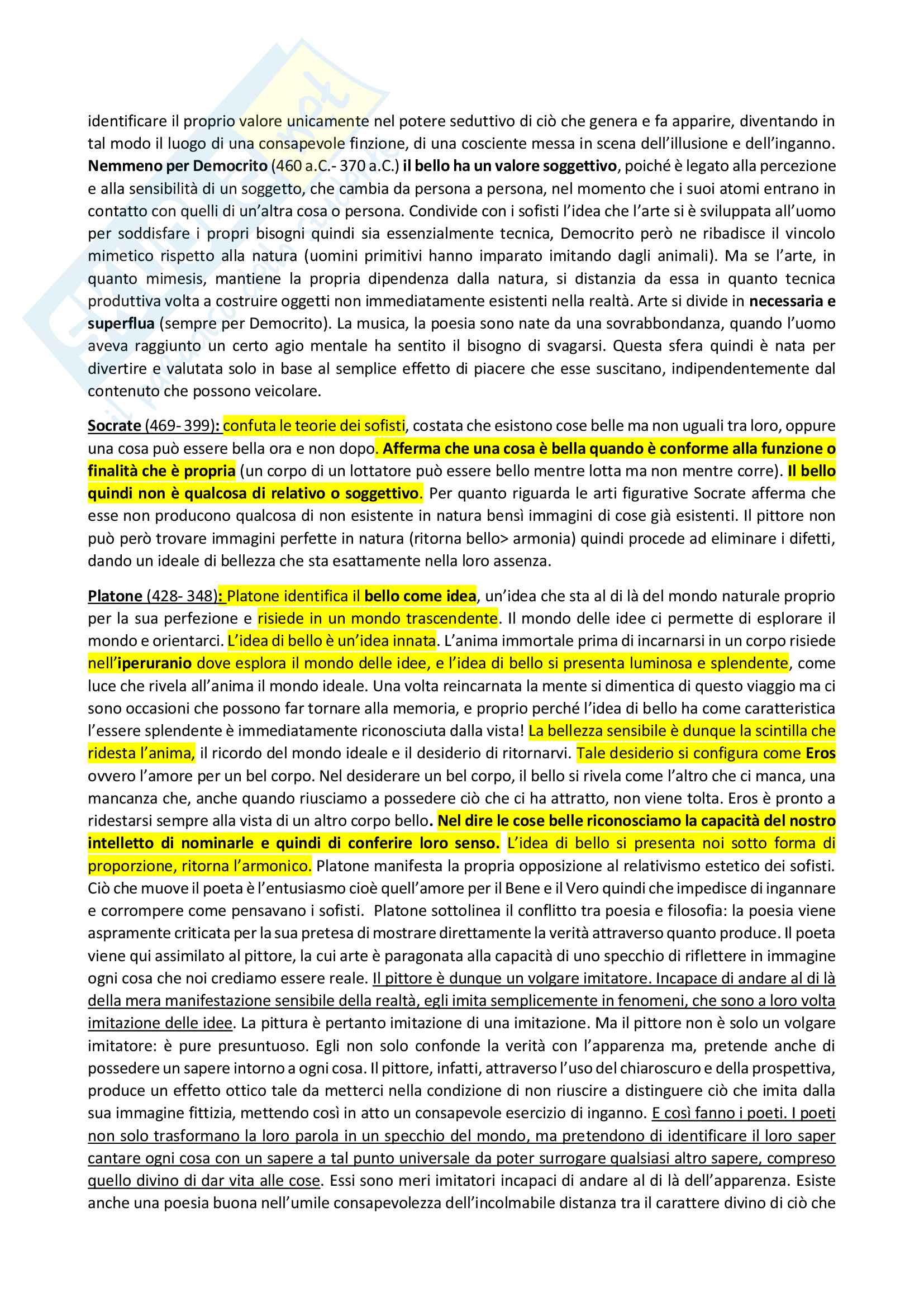 Appunti su storia dell'estetica occidentale Pag. 2