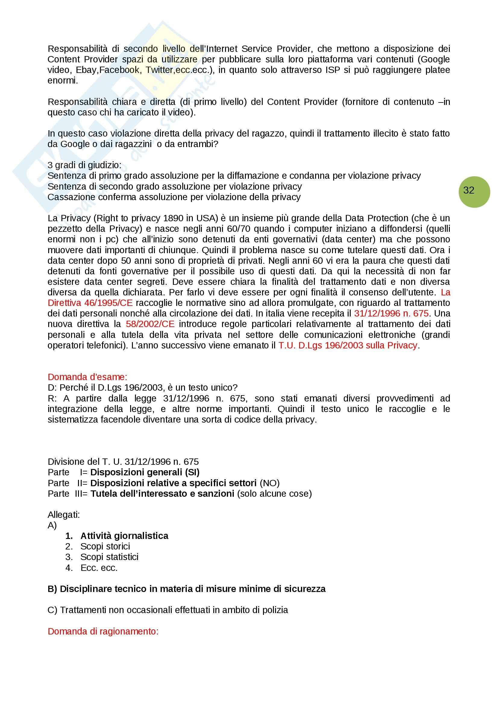 Domande e risposte, Informatica giuridica Pag. 2