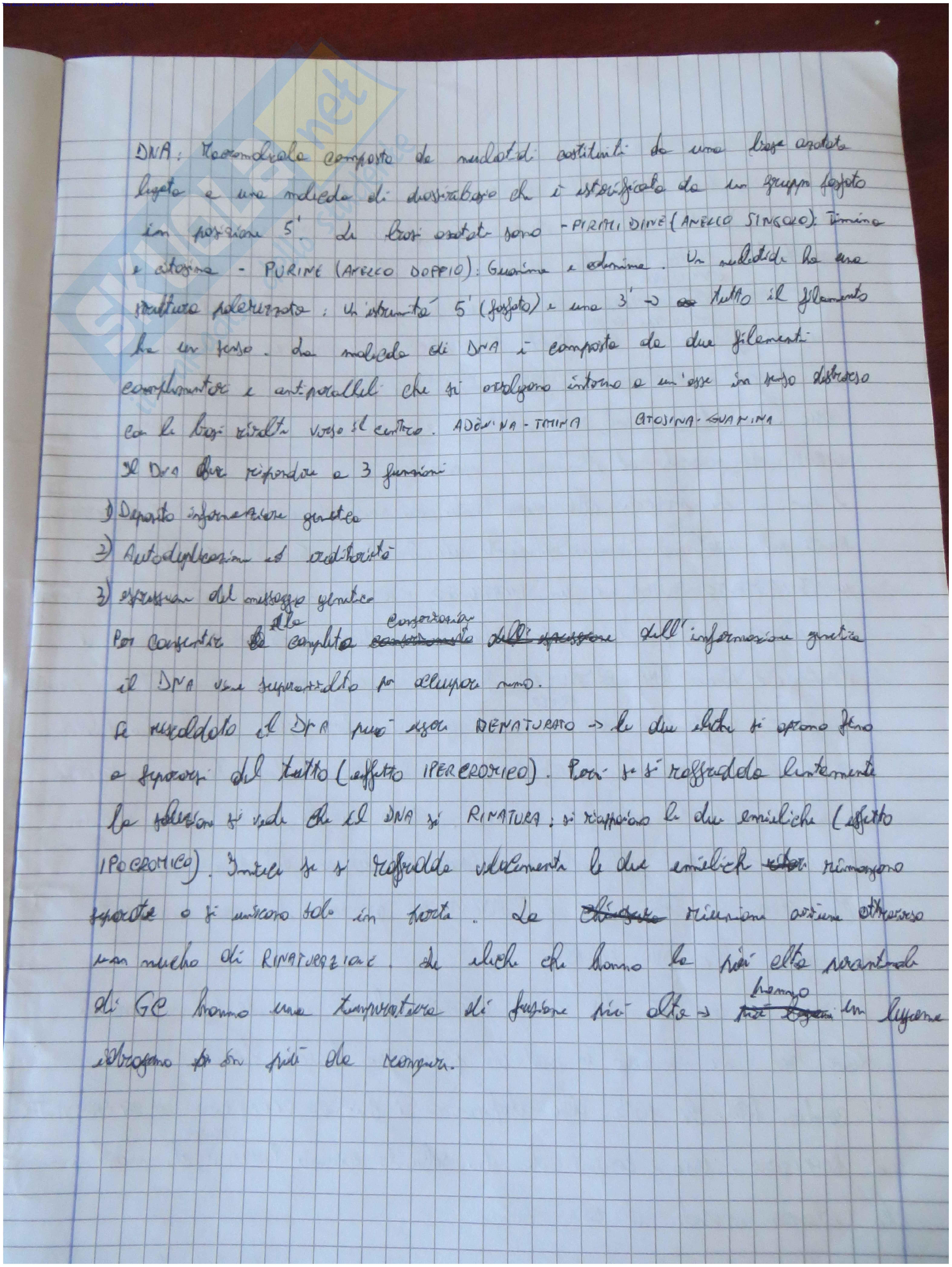 Lezioni: Appunti di Biologia Pag. 1