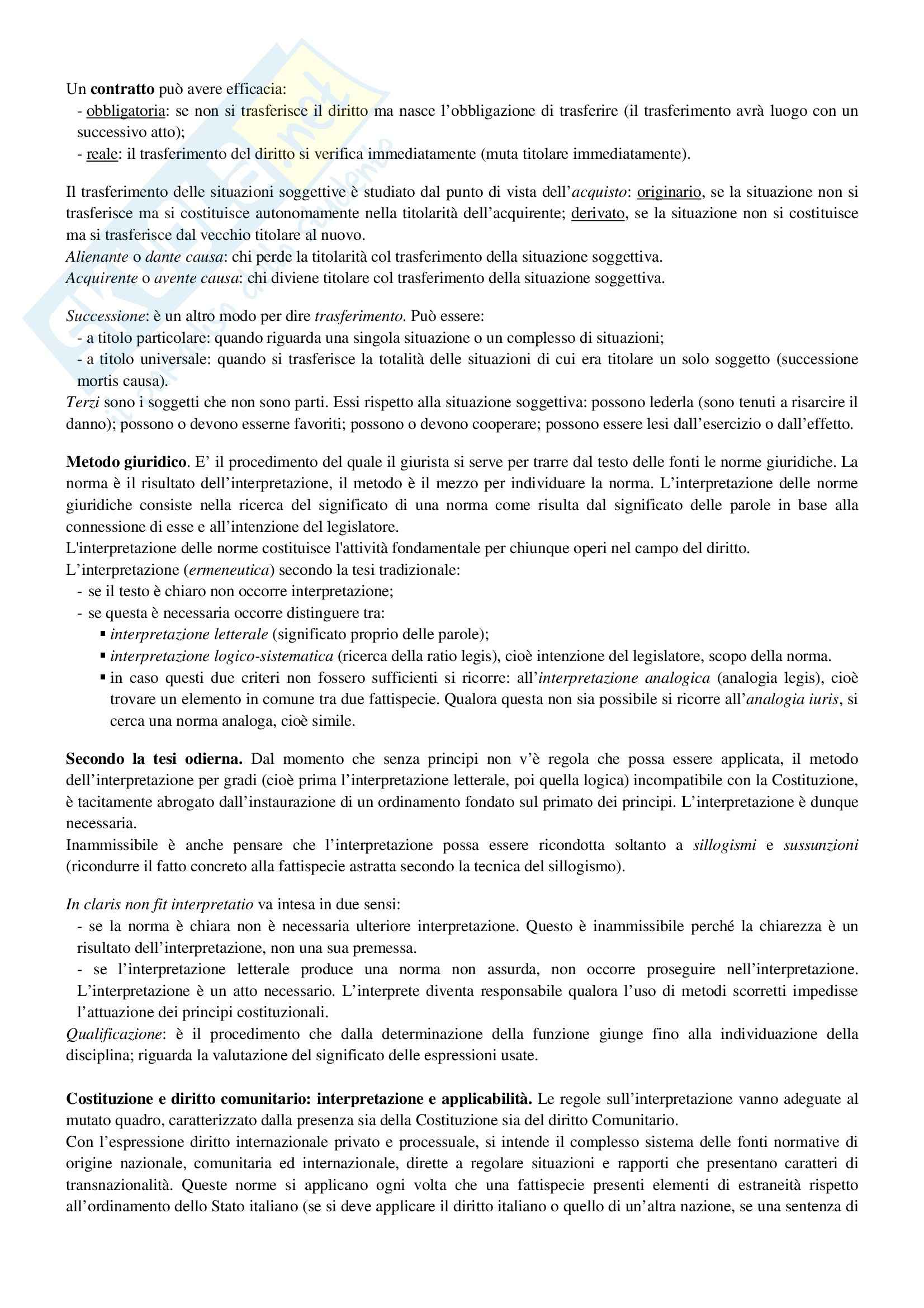 Riassunto esame Diritto Privato, prof. Ciocia, libro consigliato Istituzioni di Diritto Civile, Perlingieri Pag. 6