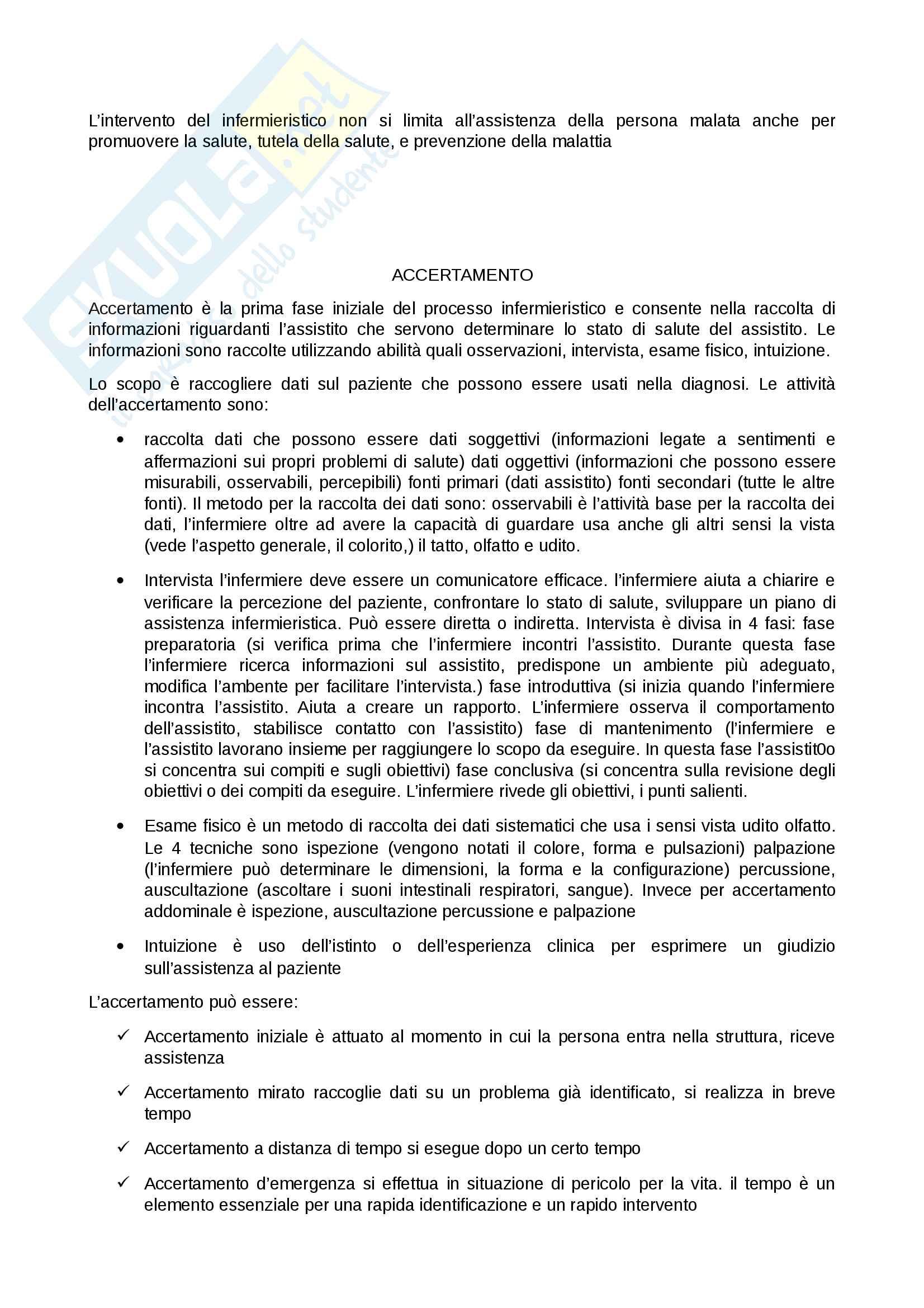 Processo infermieristico Pag. 2