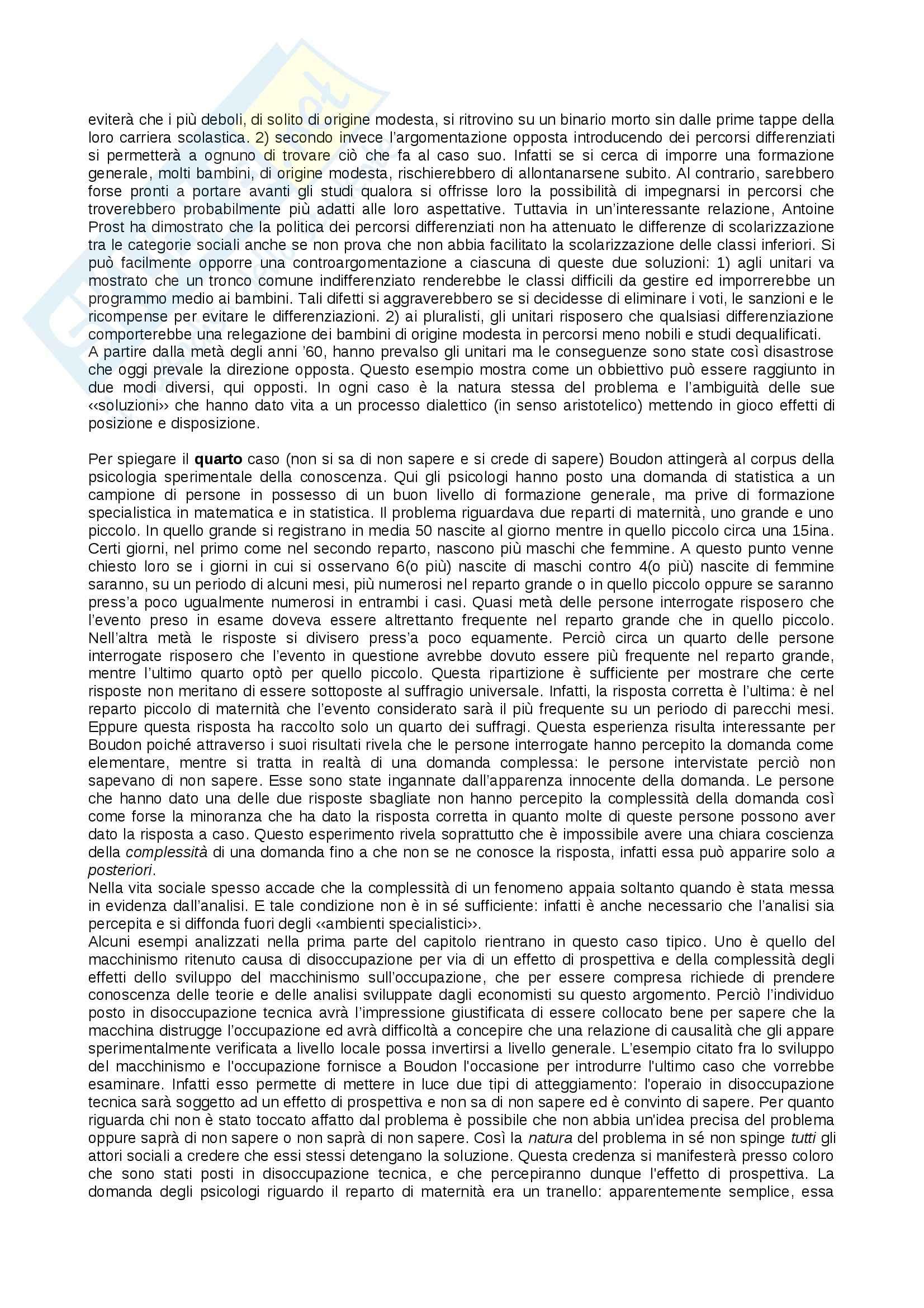 Riassunto esame Sociologia dei processi culturali, prof. Allodi, libro consigliato L'ideologia, origine dei pregiudizi, Boudon Pag. 26