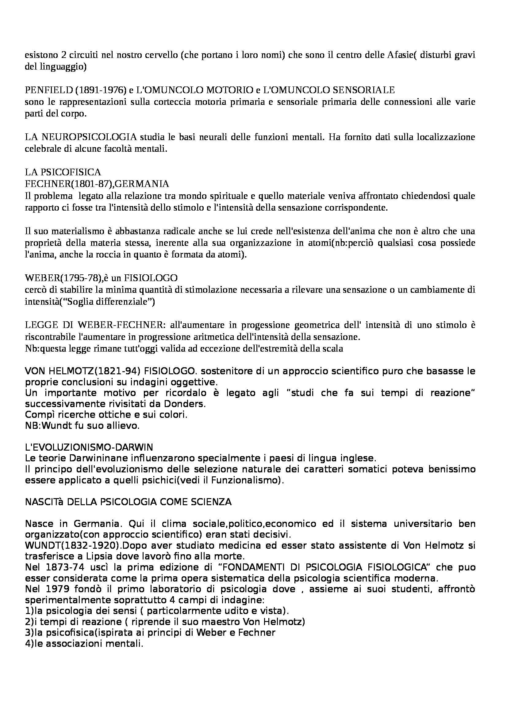 Psicologia dei processi cognitivi - Appunti Pag. 2