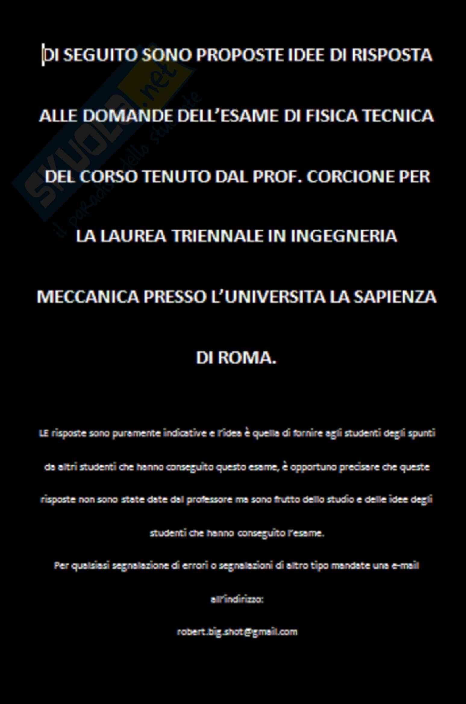 appunto M. Corcione Fisica tecnica