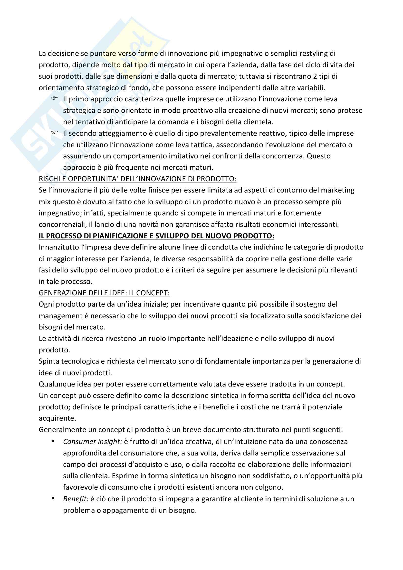 Riassunto esame Marketing, prof. Garibaldi, libro consigliato Marketing di Peter, Donnelly e Pratesi Pag. 26