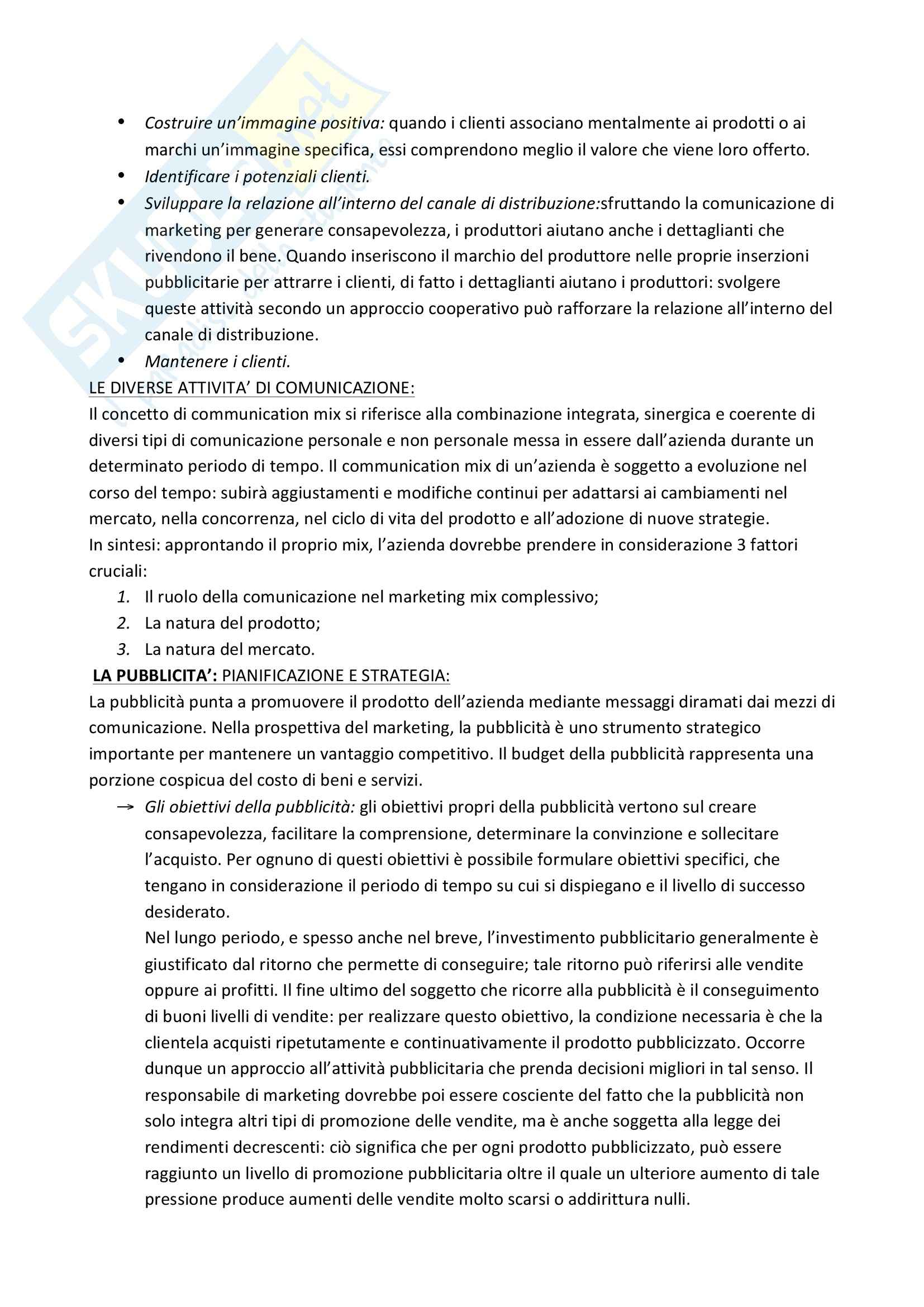 Riassunto esame Marketing, prof. Garibaldi, libro consigliato Marketing di Peter, Donnelly e Pratesi Pag. 31