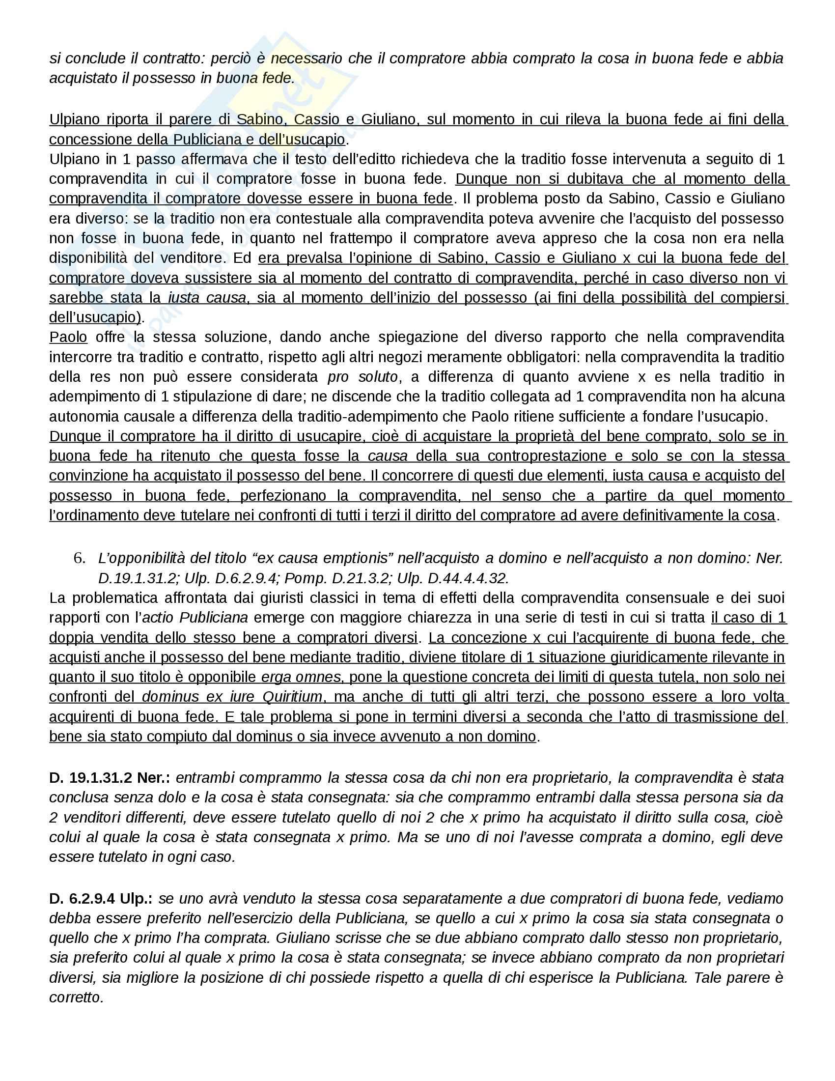 Diritto Romano - possesso e proprietà Pag. 26