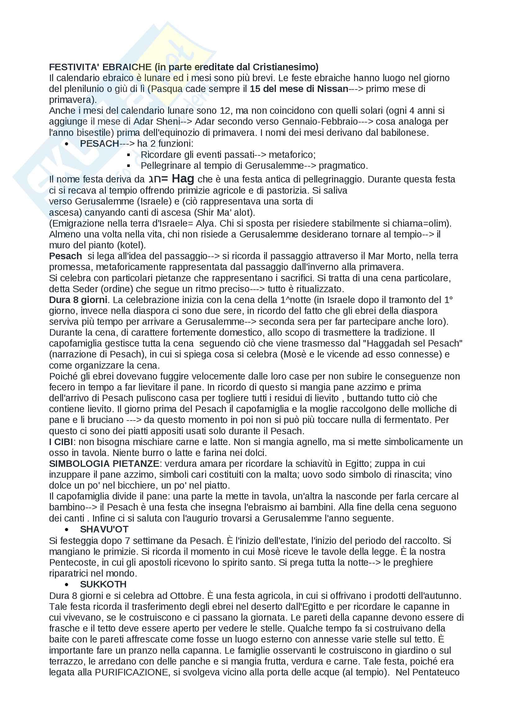 esame di lingua ebraica (prof. Lelli)- appunti