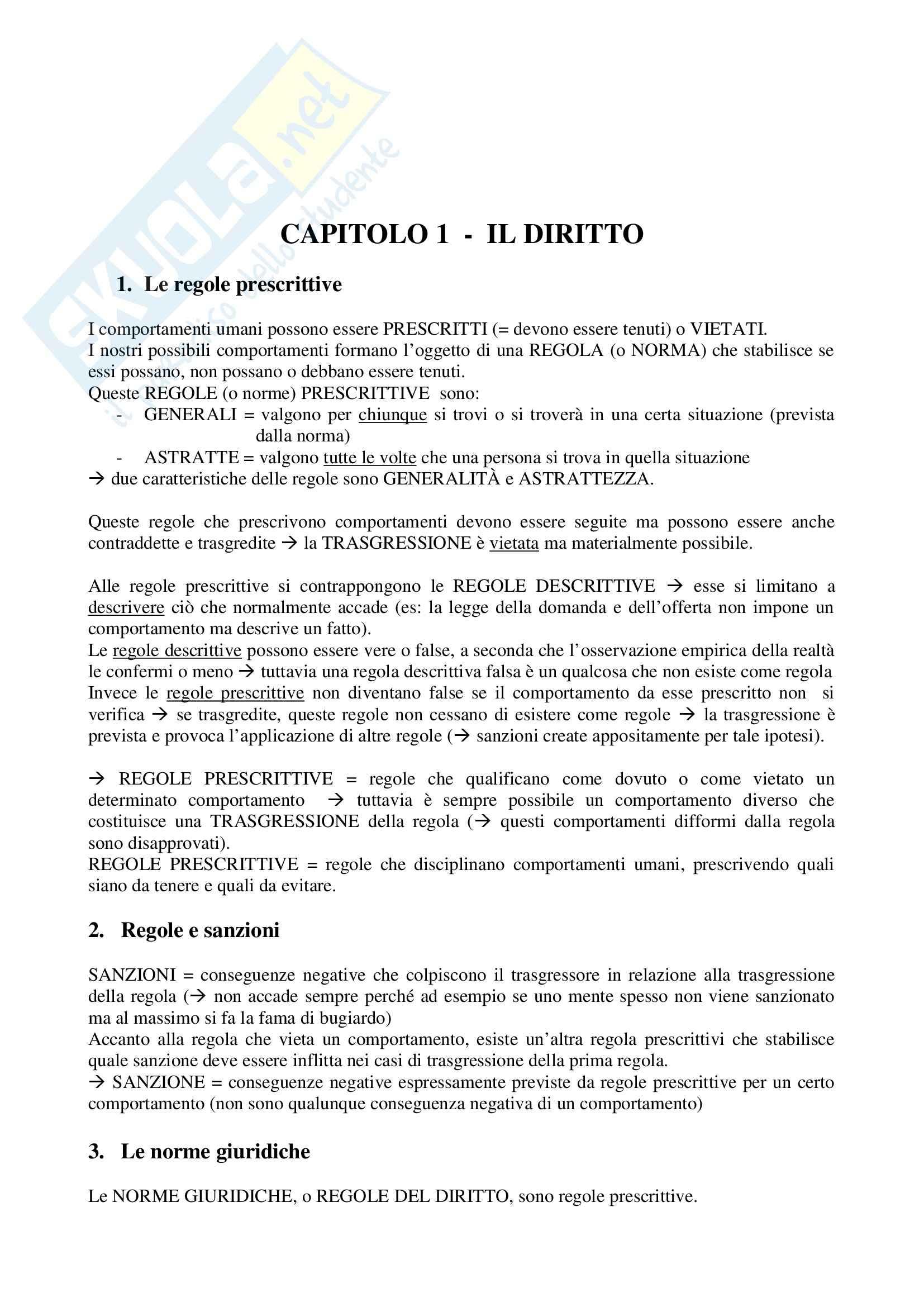 Riassunto esame Istituzioni di Diritto Pubblico, prof. Leondini, libro consigliato Lineamenti di Diritto Pubblico, Falcon