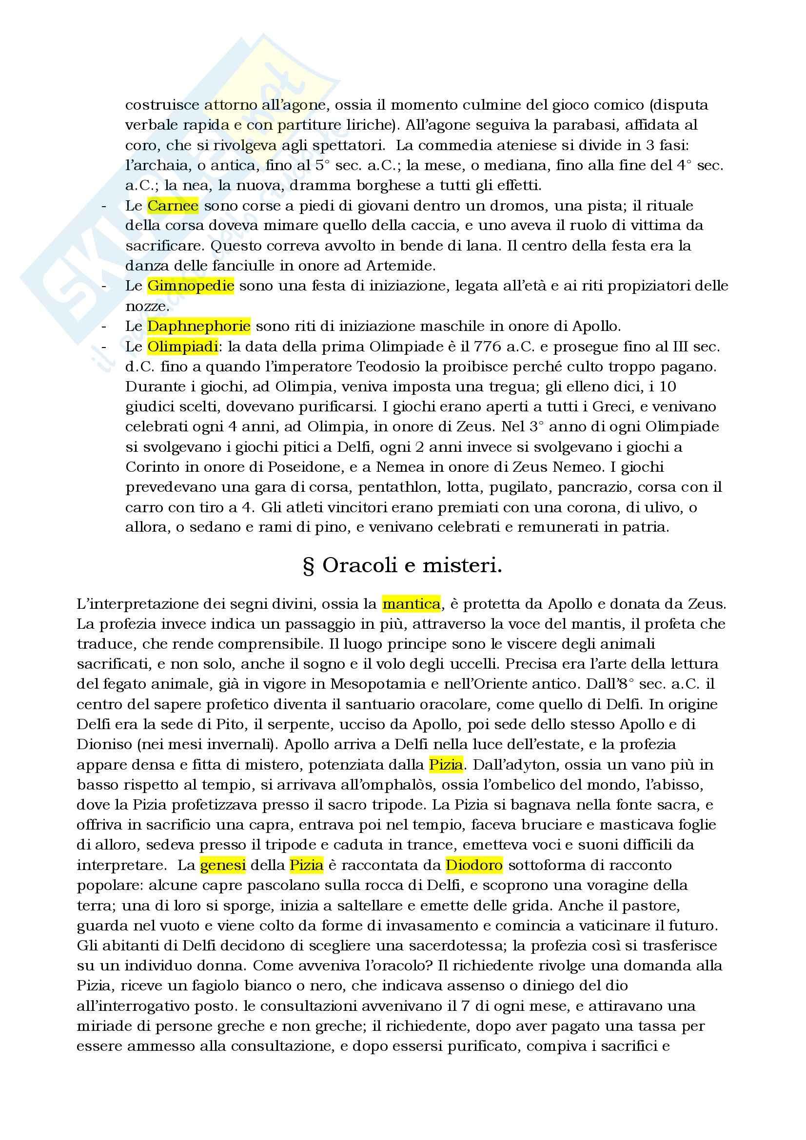Riassunto esame Storia greca, prof. Berlinzani, libro consigliato Religione e società della Grecia antica, Schirripa Pag. 11