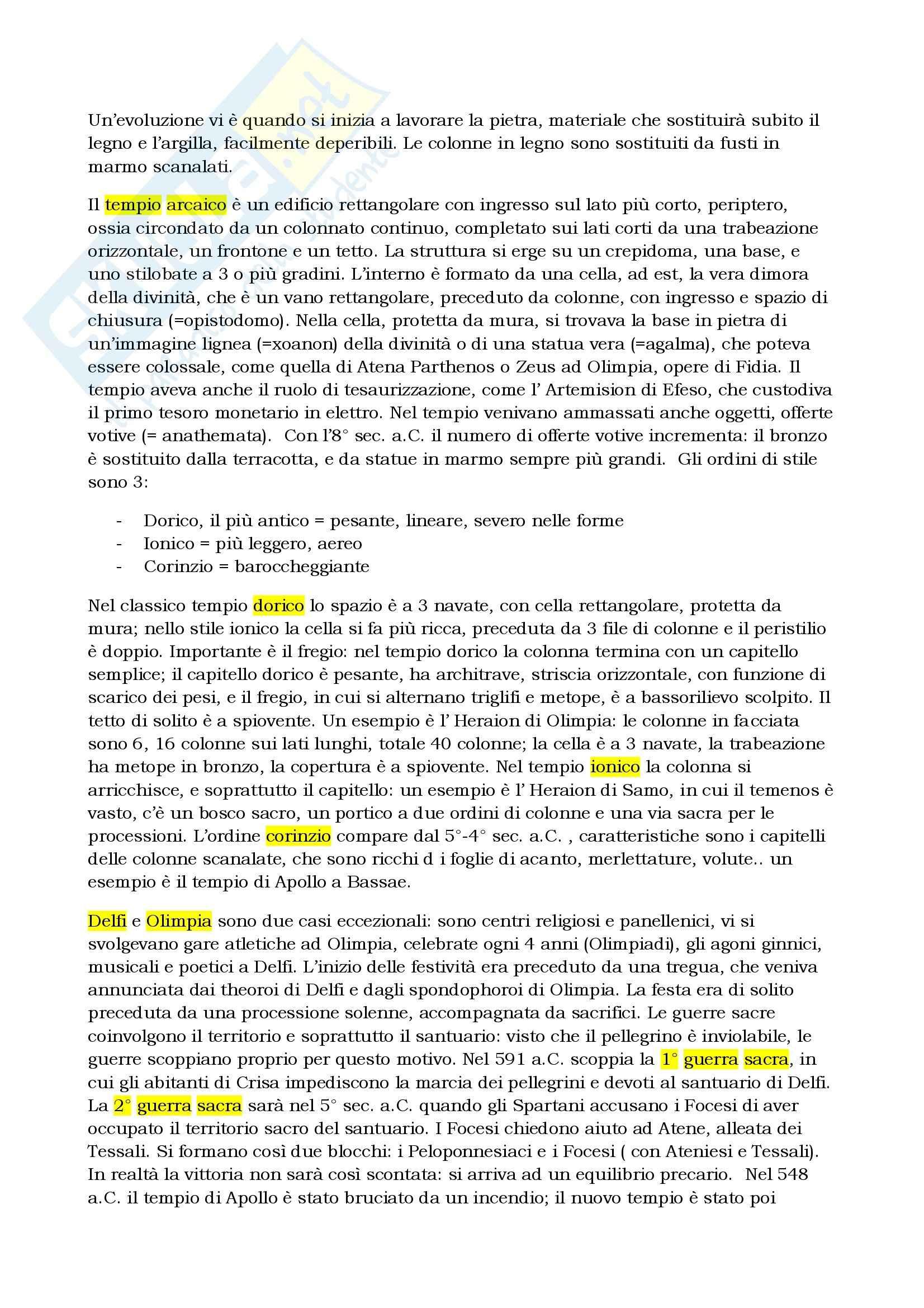 Riassunto esame Storia greca, prof. Berlinzani, libro consigliato Religione e società della Grecia antica, Schirripa Pag. 6
