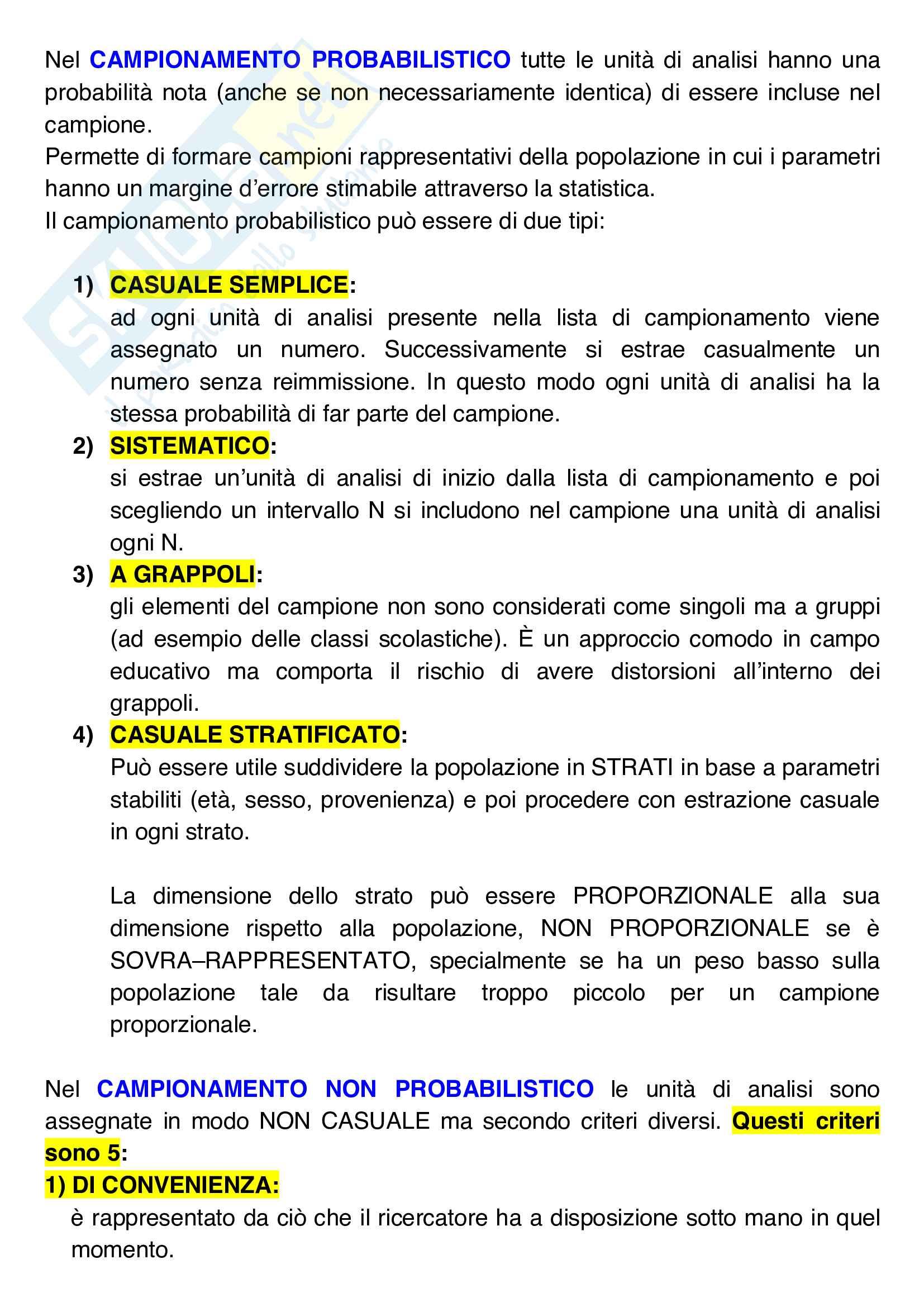 Riassunti dettagliati Esame Pedagogia sperimentale di Rossella D'Ugo Pag. 2