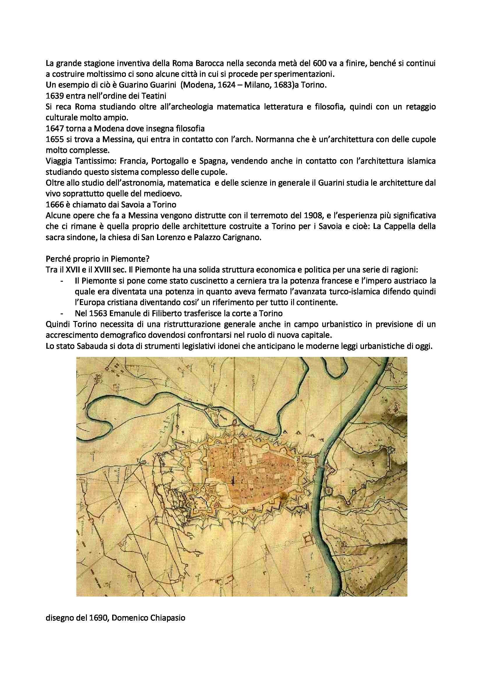 Storia dell'architettura moderna e contemporanea - Guarino Guarini