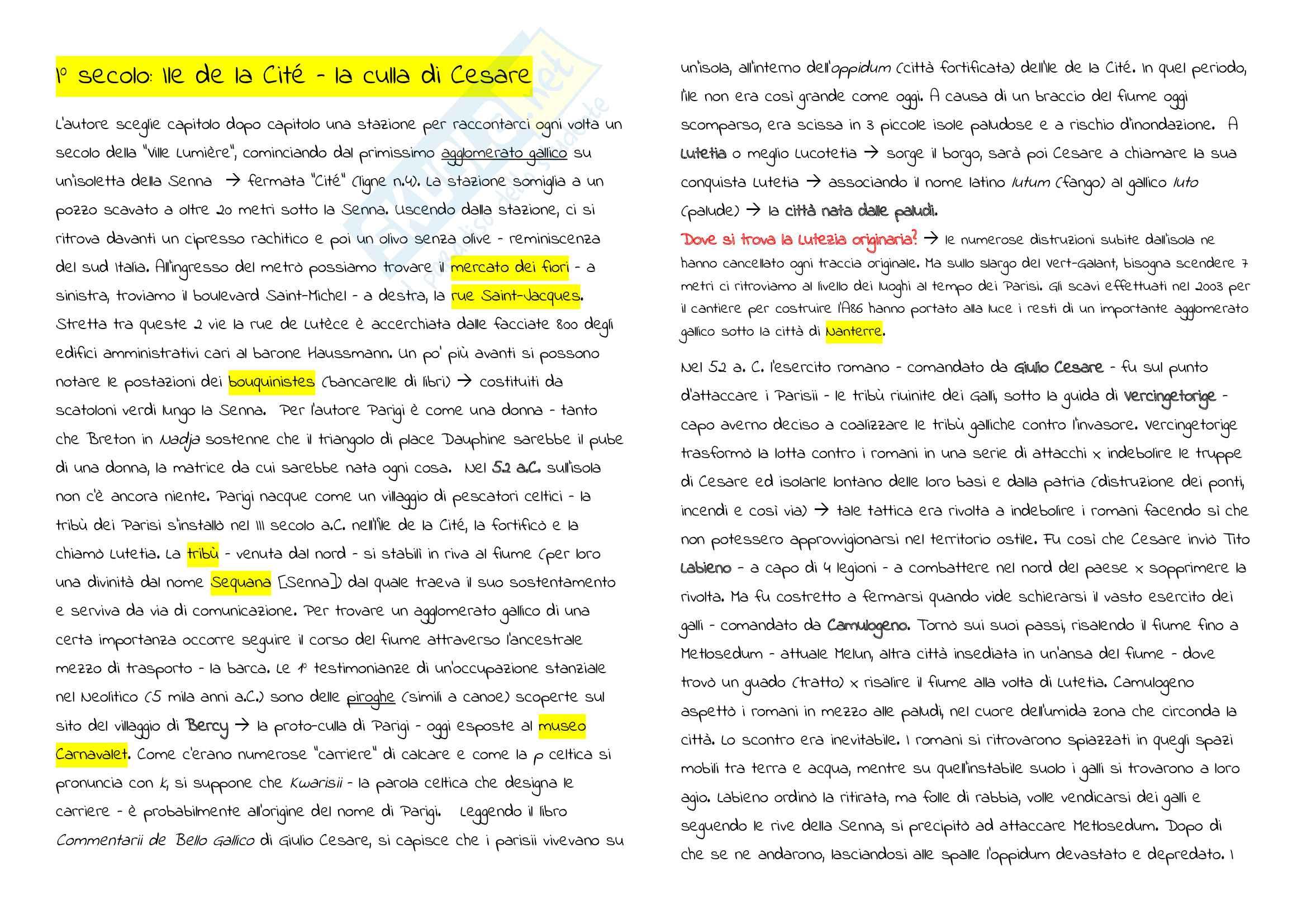 Riassunto Esame Cultura Francese, prof. Maiorano, libro consigliato Metronome, Deutsch