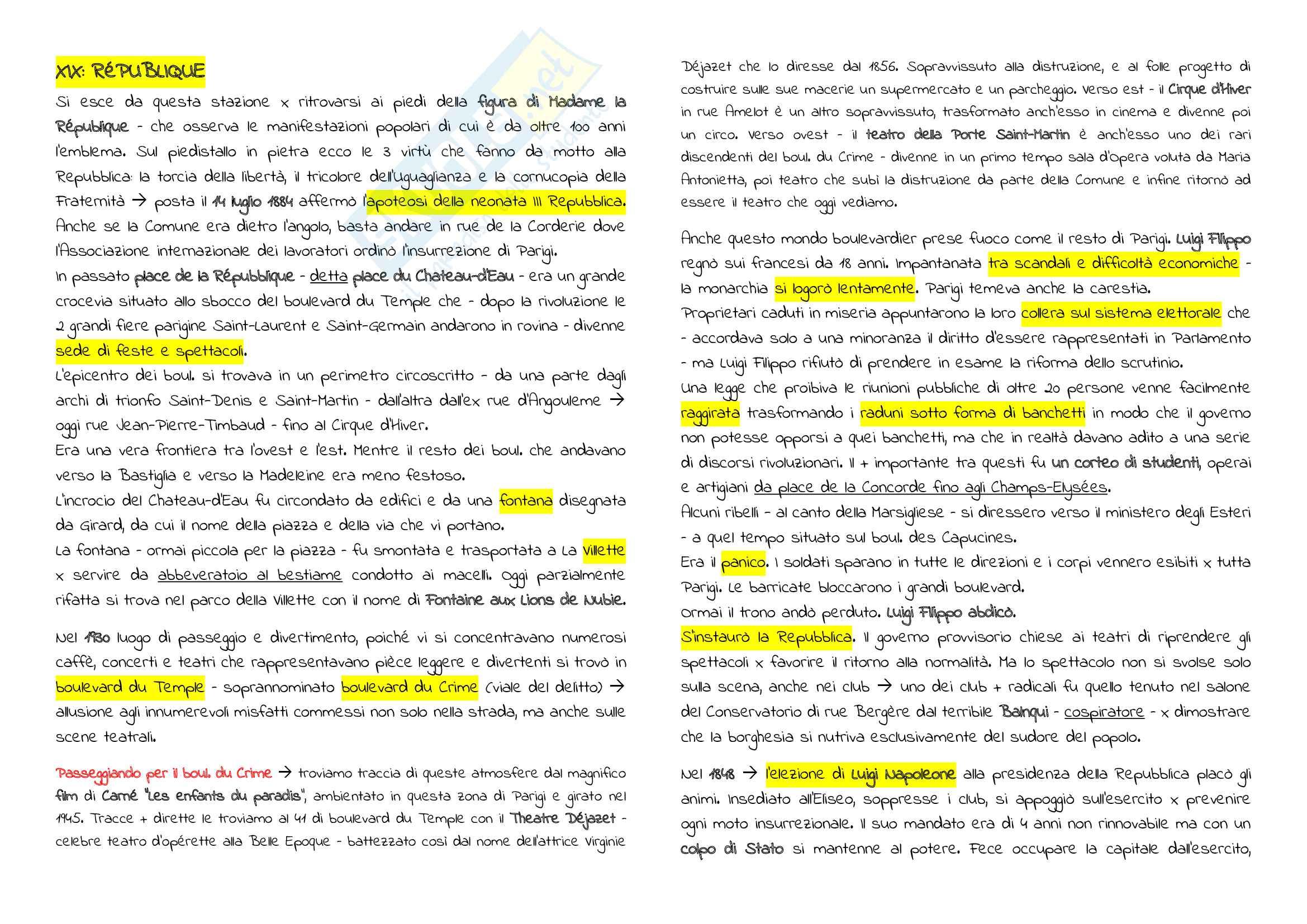 Riassunto Esame Cultura Francese, prof. Maiorano, libro consigliato Metronome, Deutsch Pag. 41