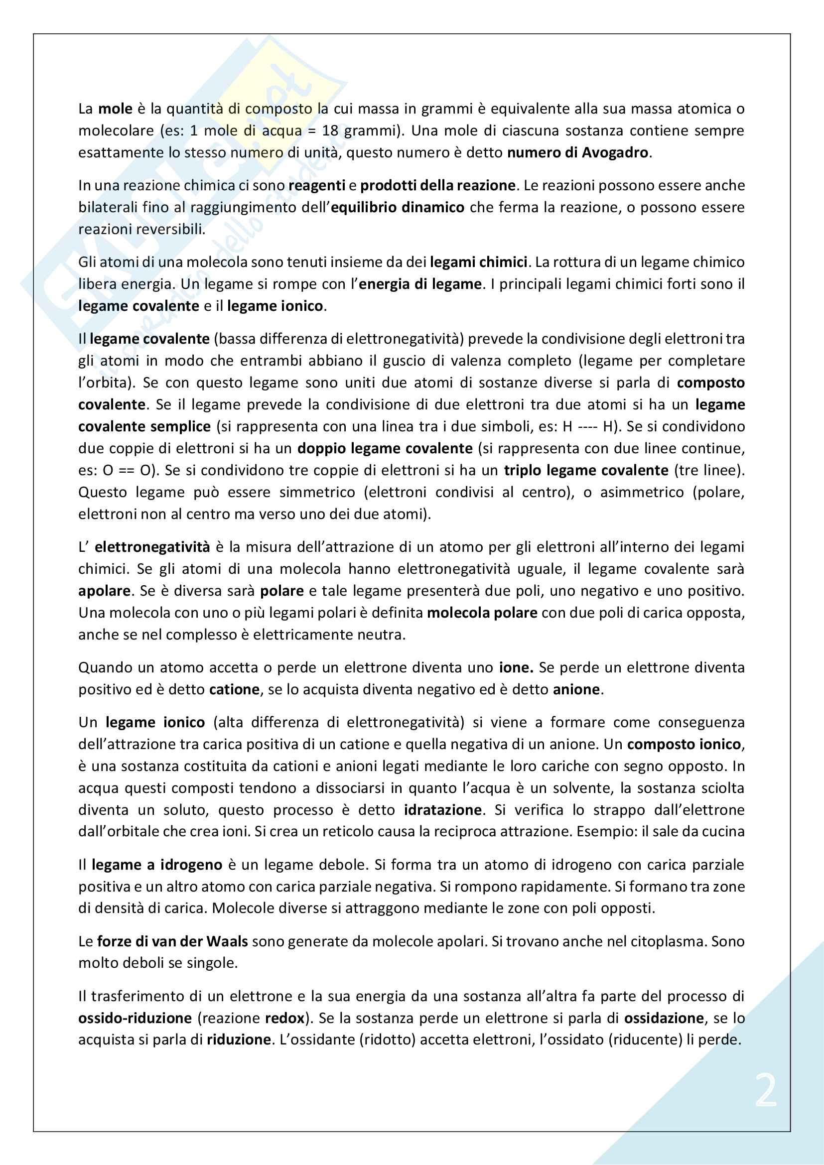 Biologia Applicata - 1° Anno Scienze Motorie Pag. 2