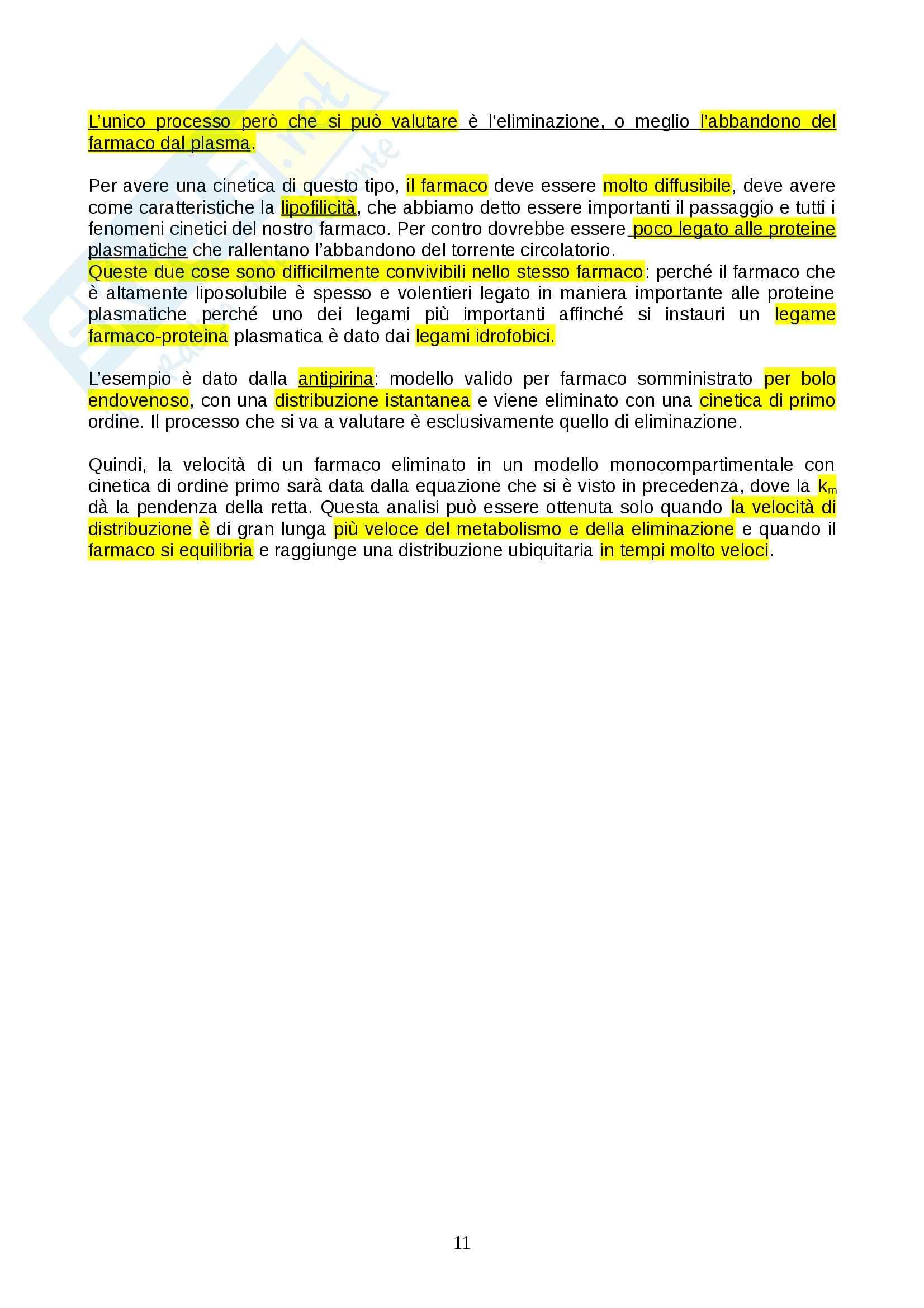 Farmacologia - farmacinetica e dinamica Pag. 11