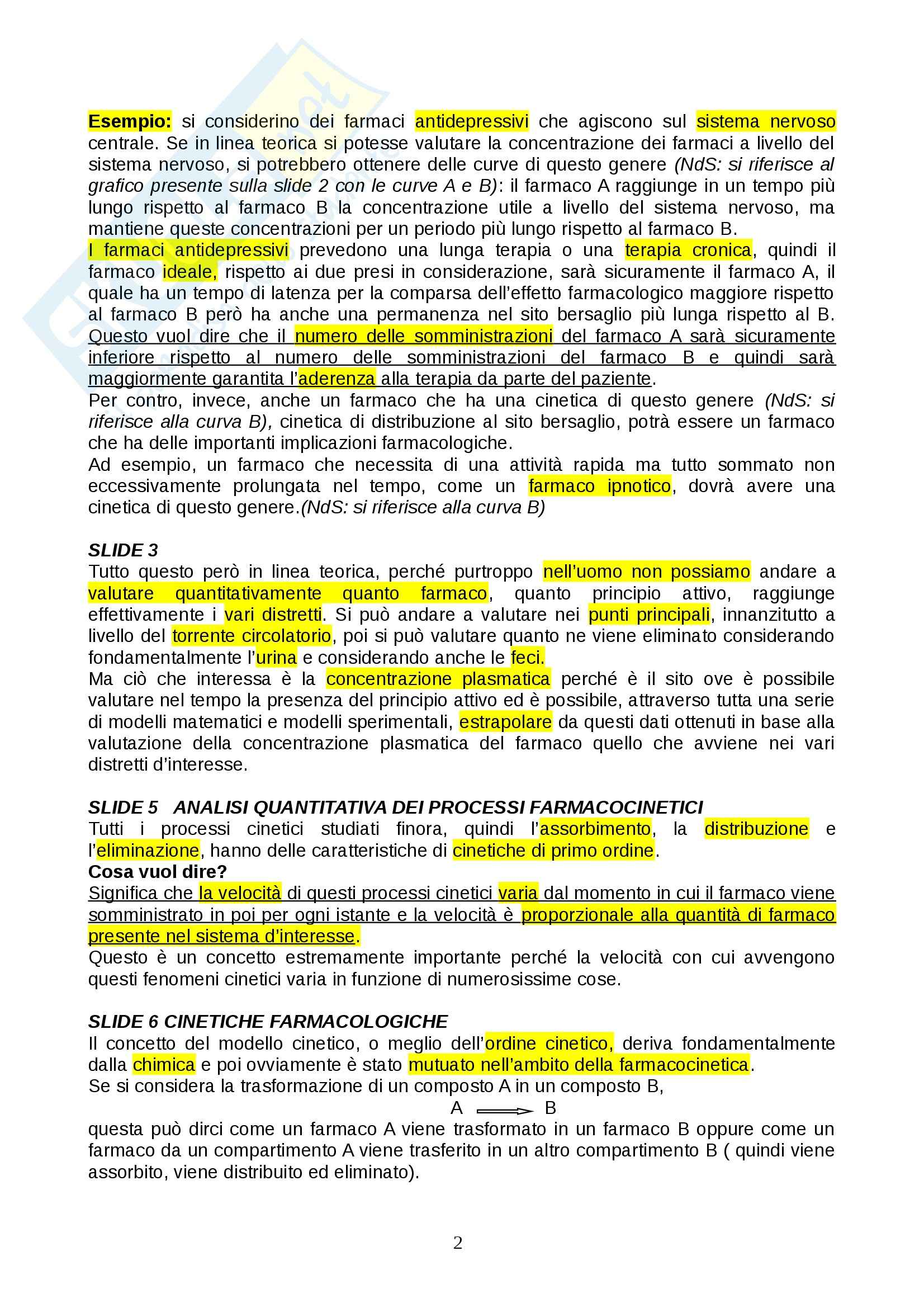 Farmacologia - farmacinetica e dinamica Pag. 2