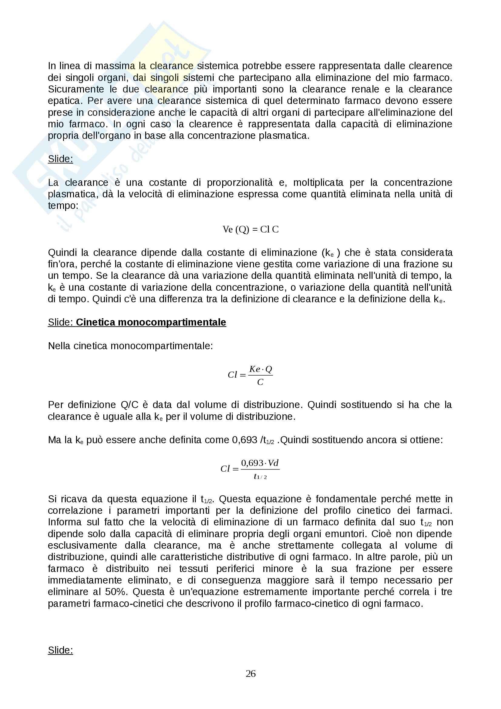 Farmacologia - farmacinetica e dinamica Pag. 26