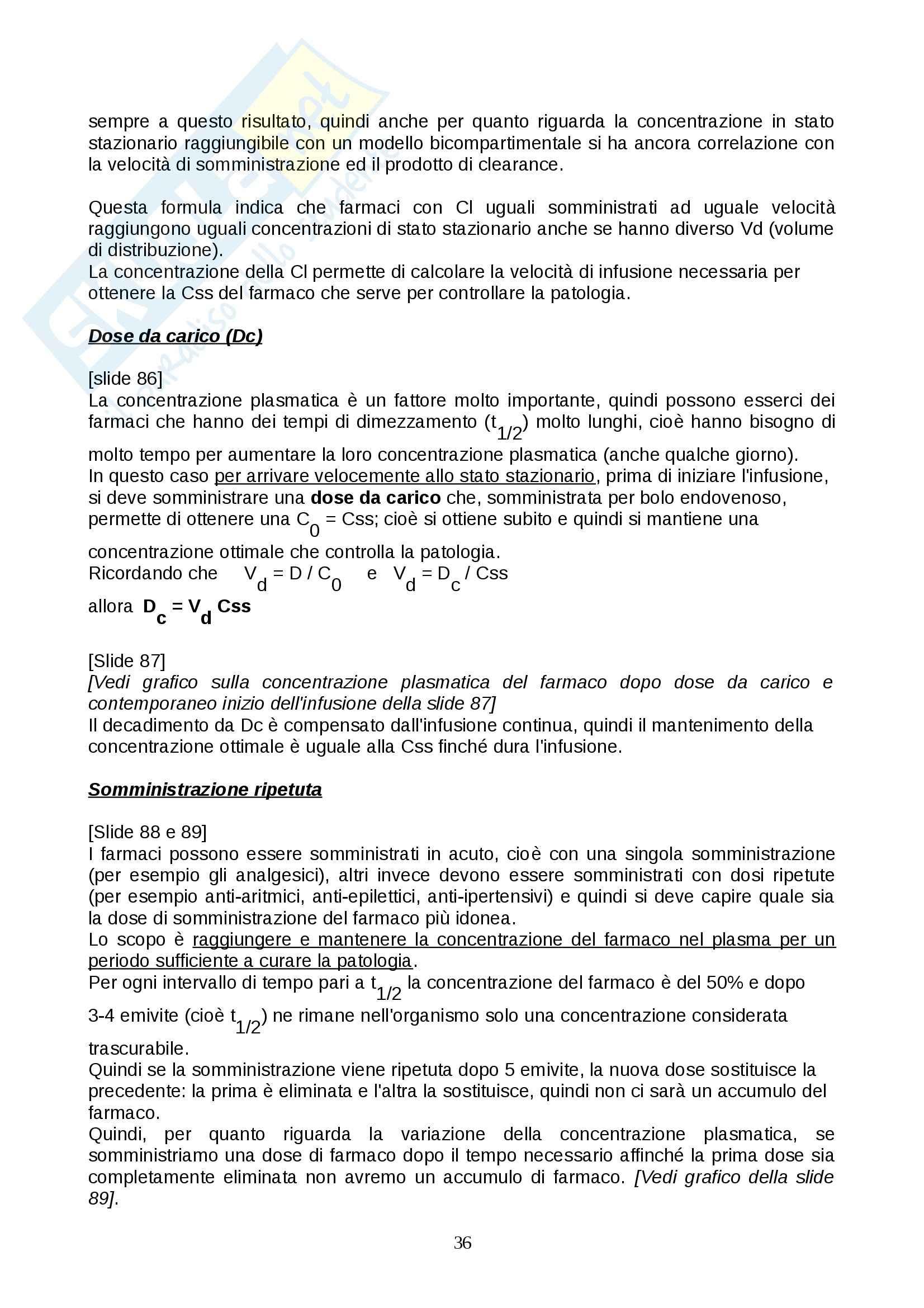 Farmacologia - farmacinetica e dinamica Pag. 36