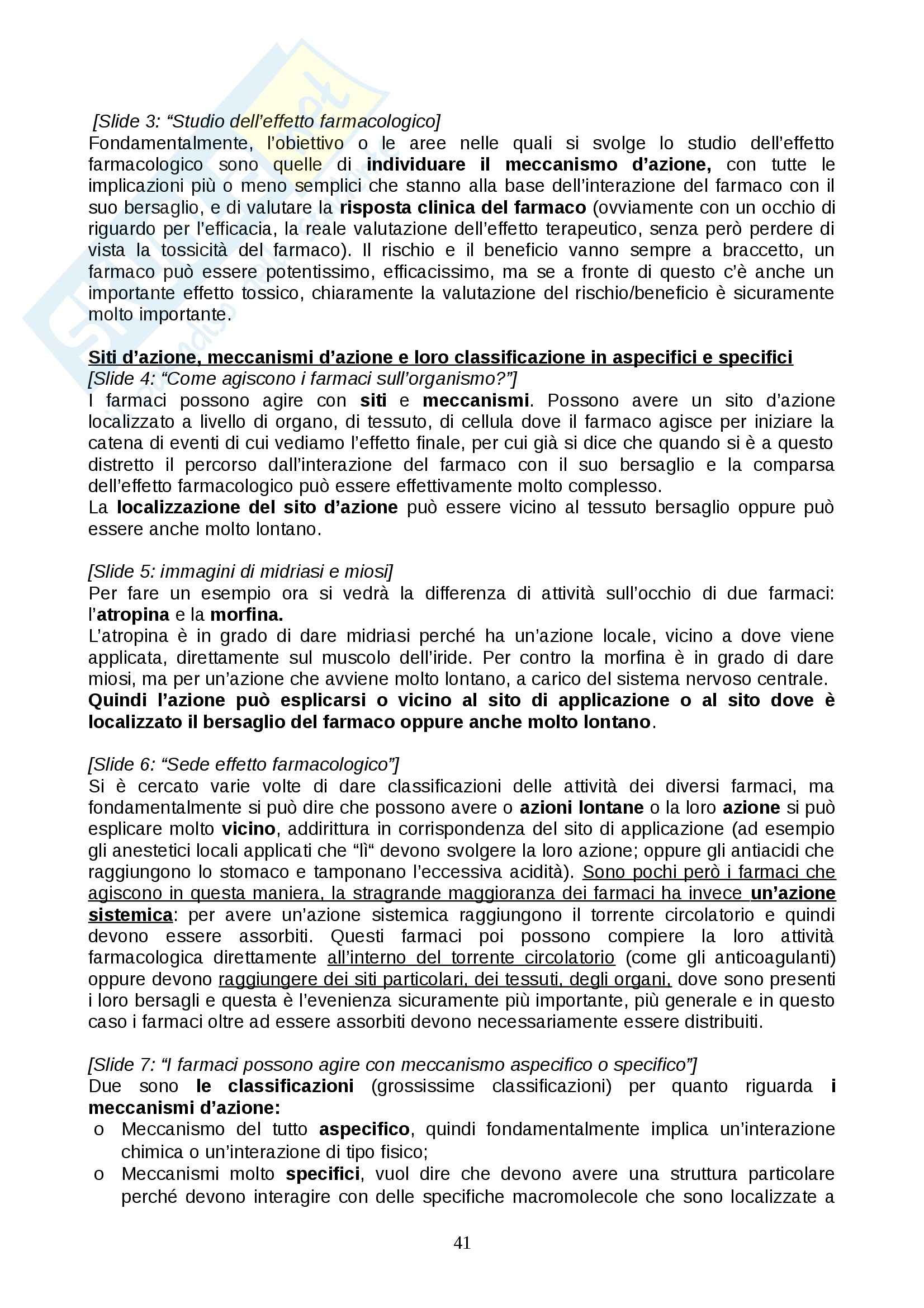 Farmacologia - farmacinetica e dinamica Pag. 41