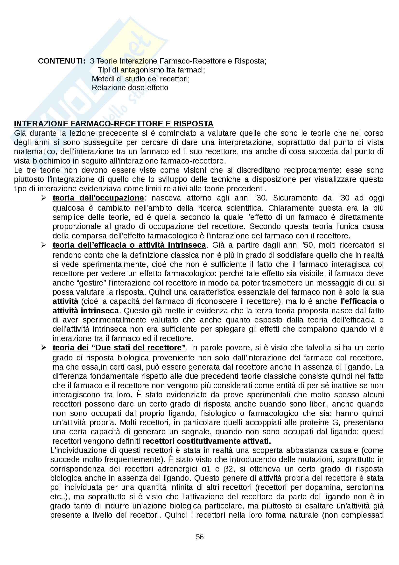 Farmacologia - farmacinetica e dinamica Pag. 56
