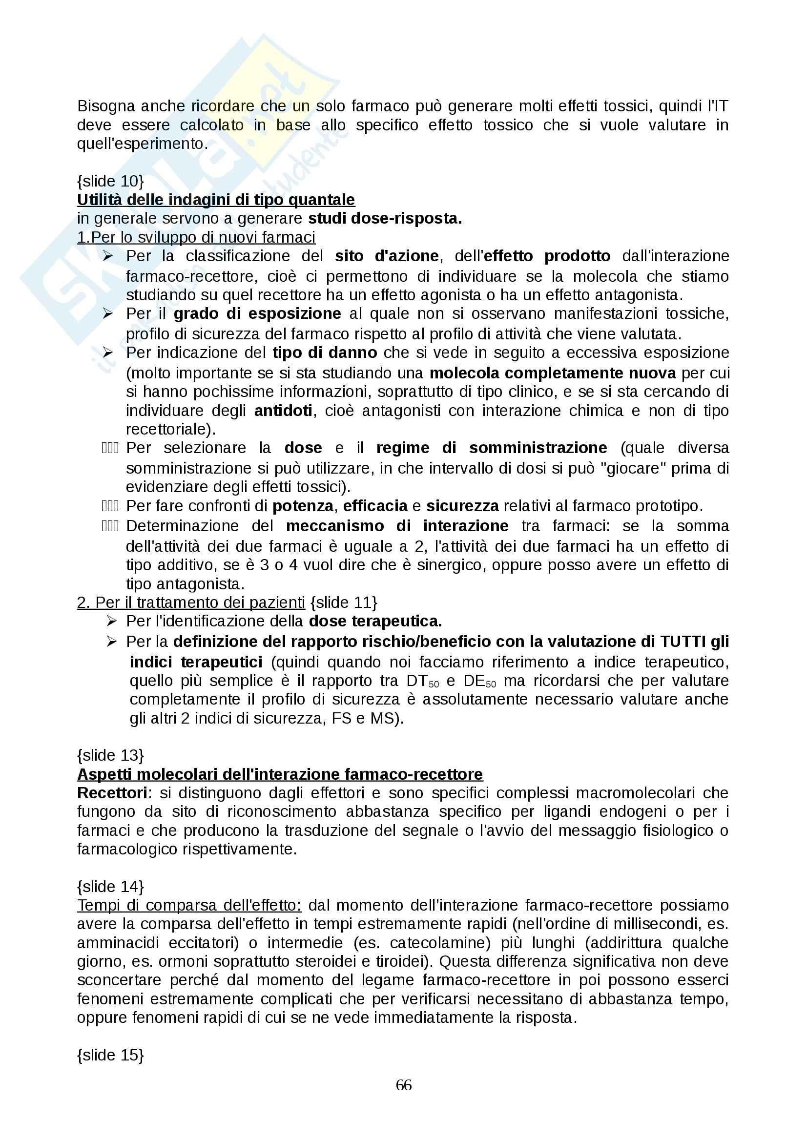 Farmacologia - farmacinetica e dinamica Pag. 66