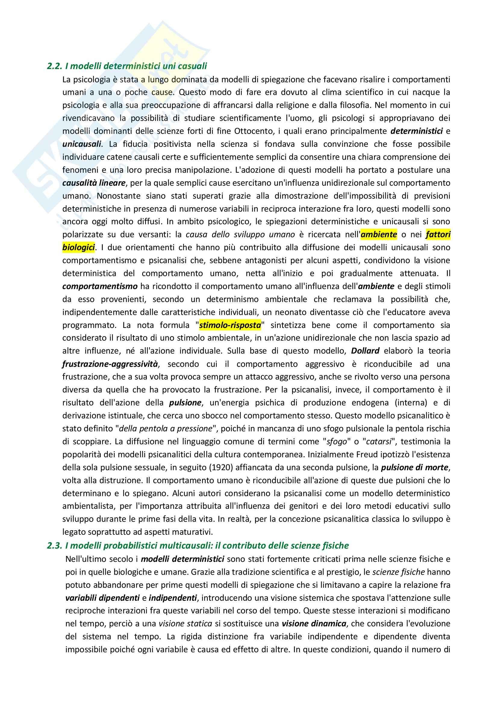 Riassunto esame Psicologia dello sviluppo, prof. Mininni, libro consigliato Manuale di Psicologia dello Sviluppo, Fonzi Pag. 11