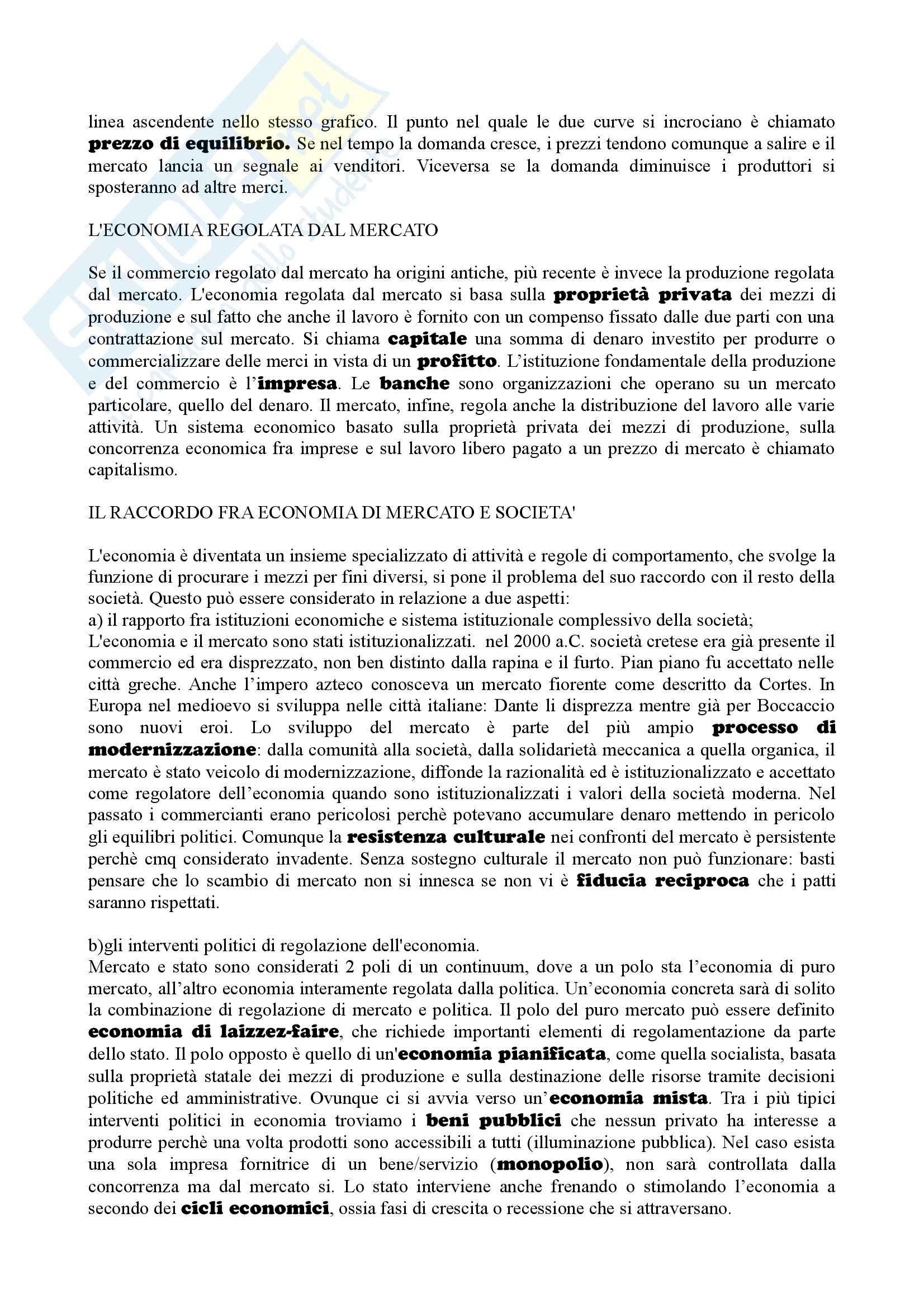 Riassunto esame sociologia generale, prof. Losito, libro consigliato Corso di sociologia, Bagnasco, Cavalli, Barbagli Pag. 41