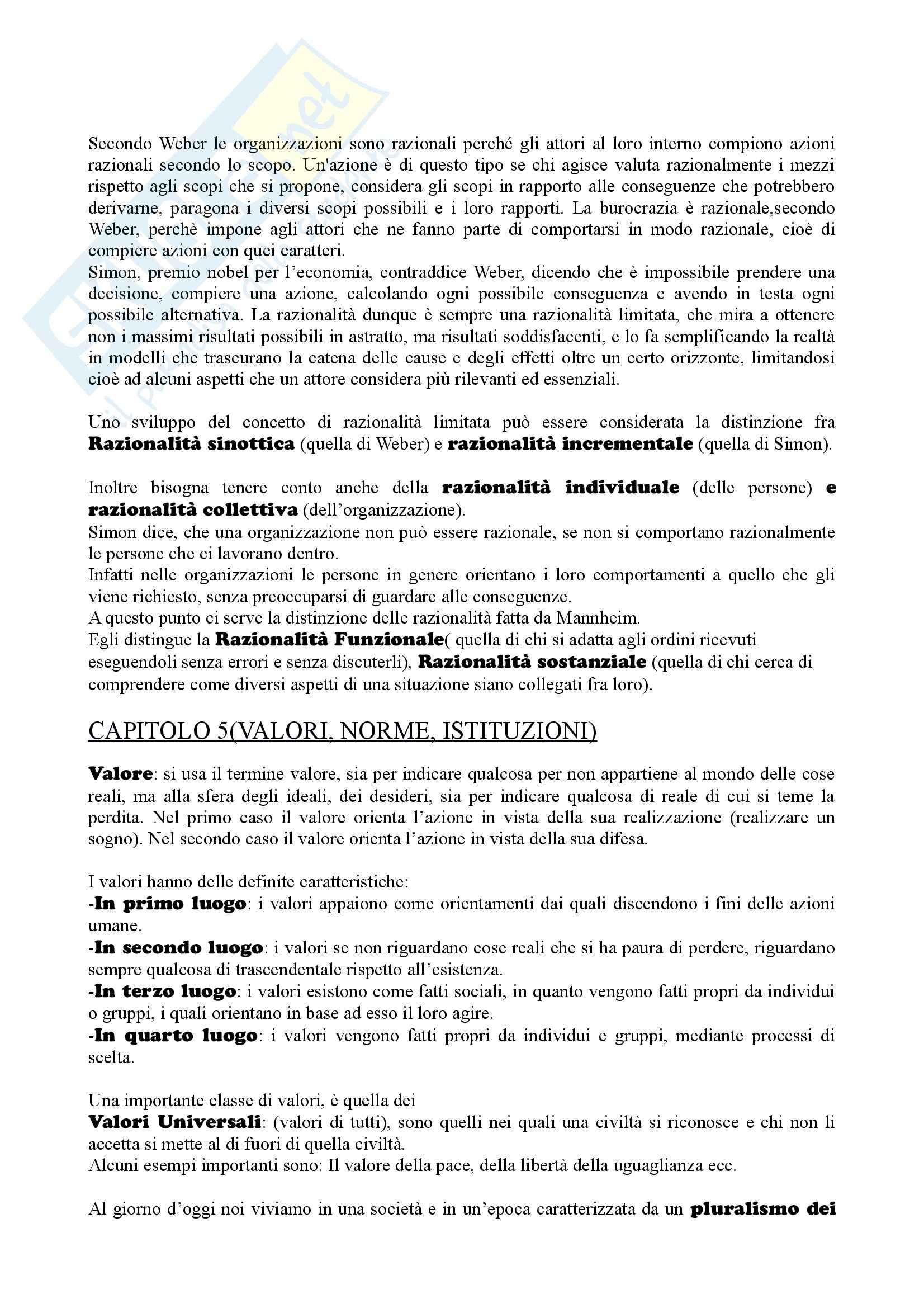 Riassunto esame sociologia generale, prof. Losito, libro consigliato Corso di sociologia, Bagnasco, Cavalli, Barbagli Pag. 6