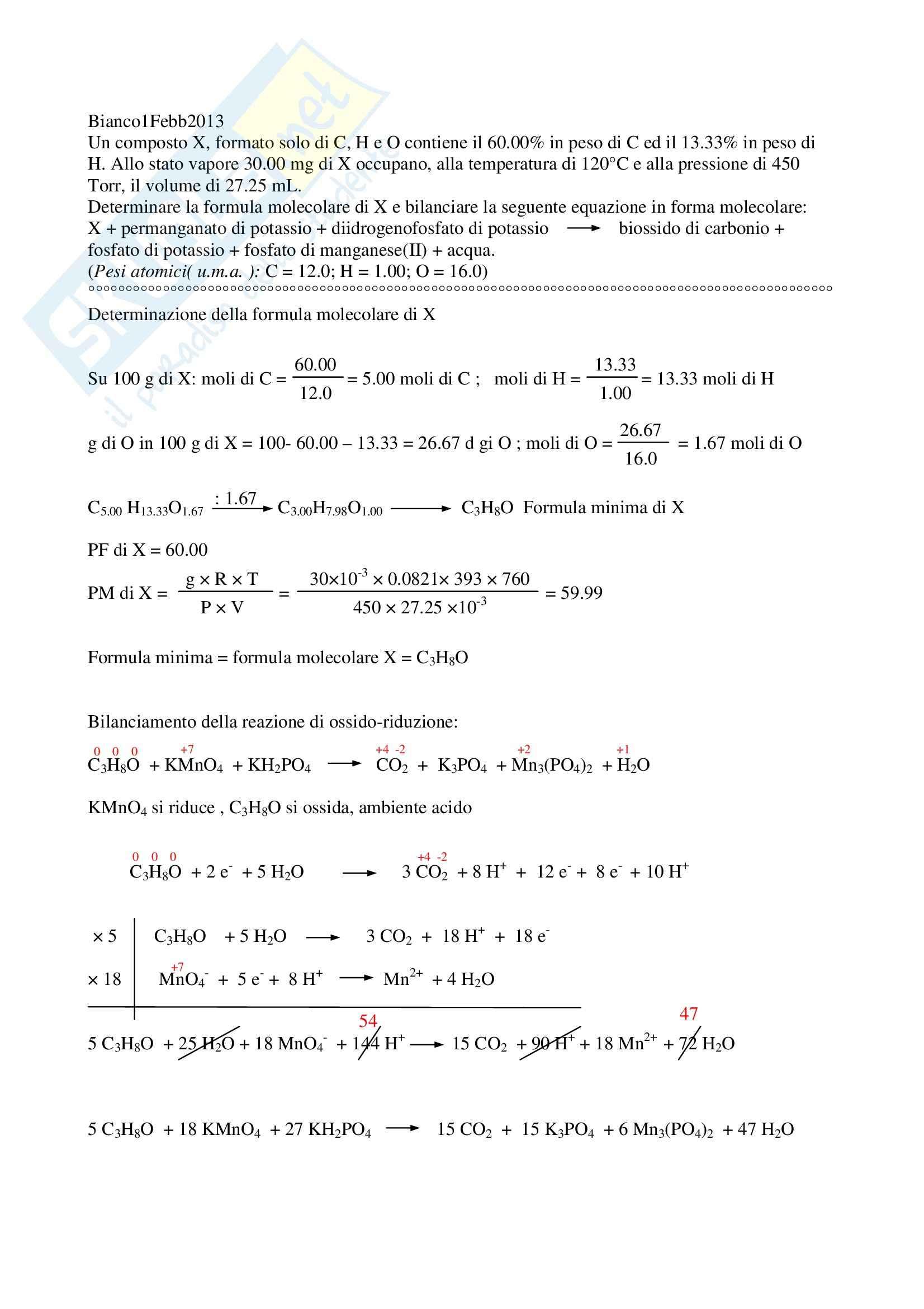 Esercizi d'esame Chimica inorganica CTF e Farmacia Pag. 6