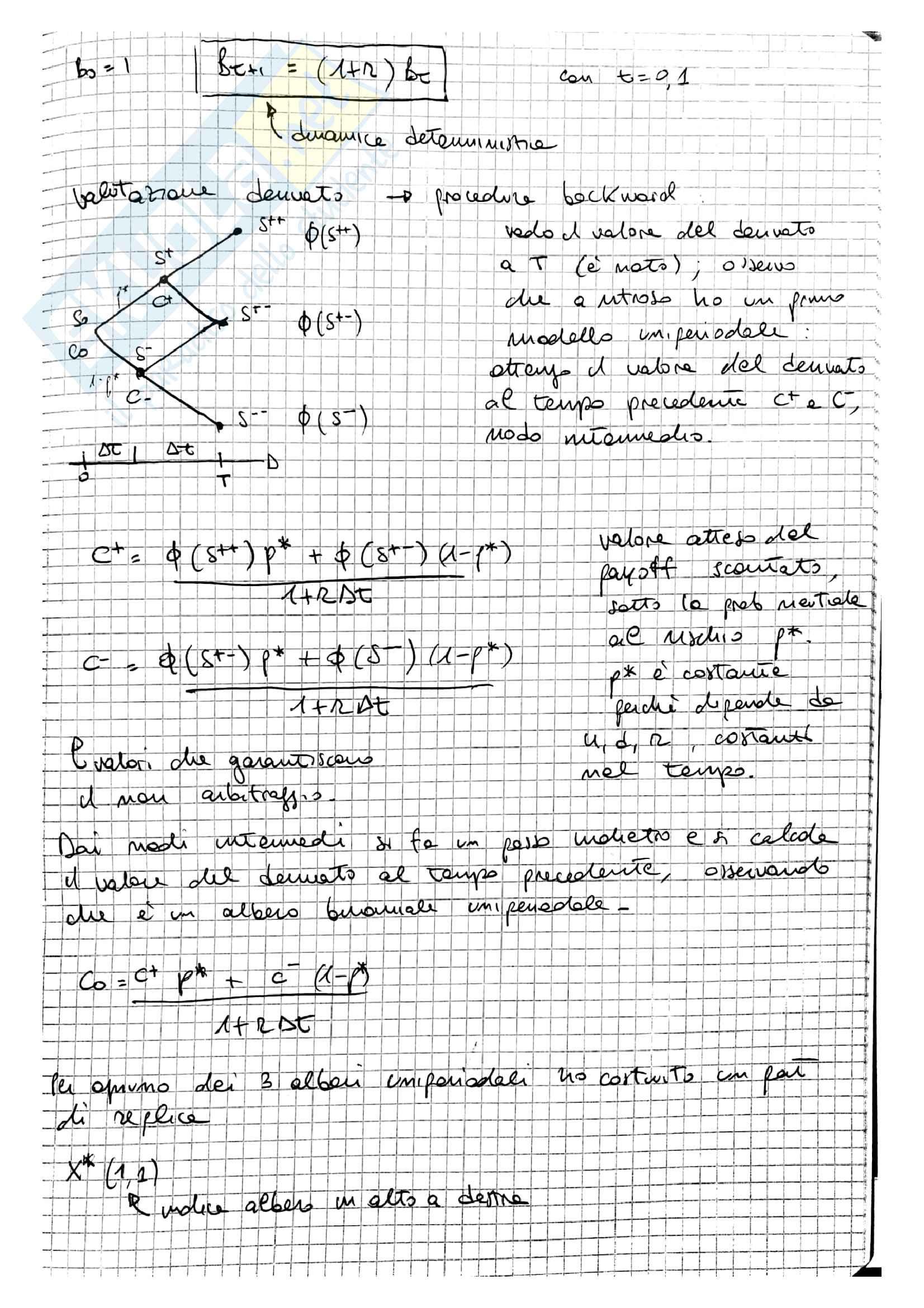 Lezioni Modelli Matematici per la Finanza, prof. Ramponi Pag. 46