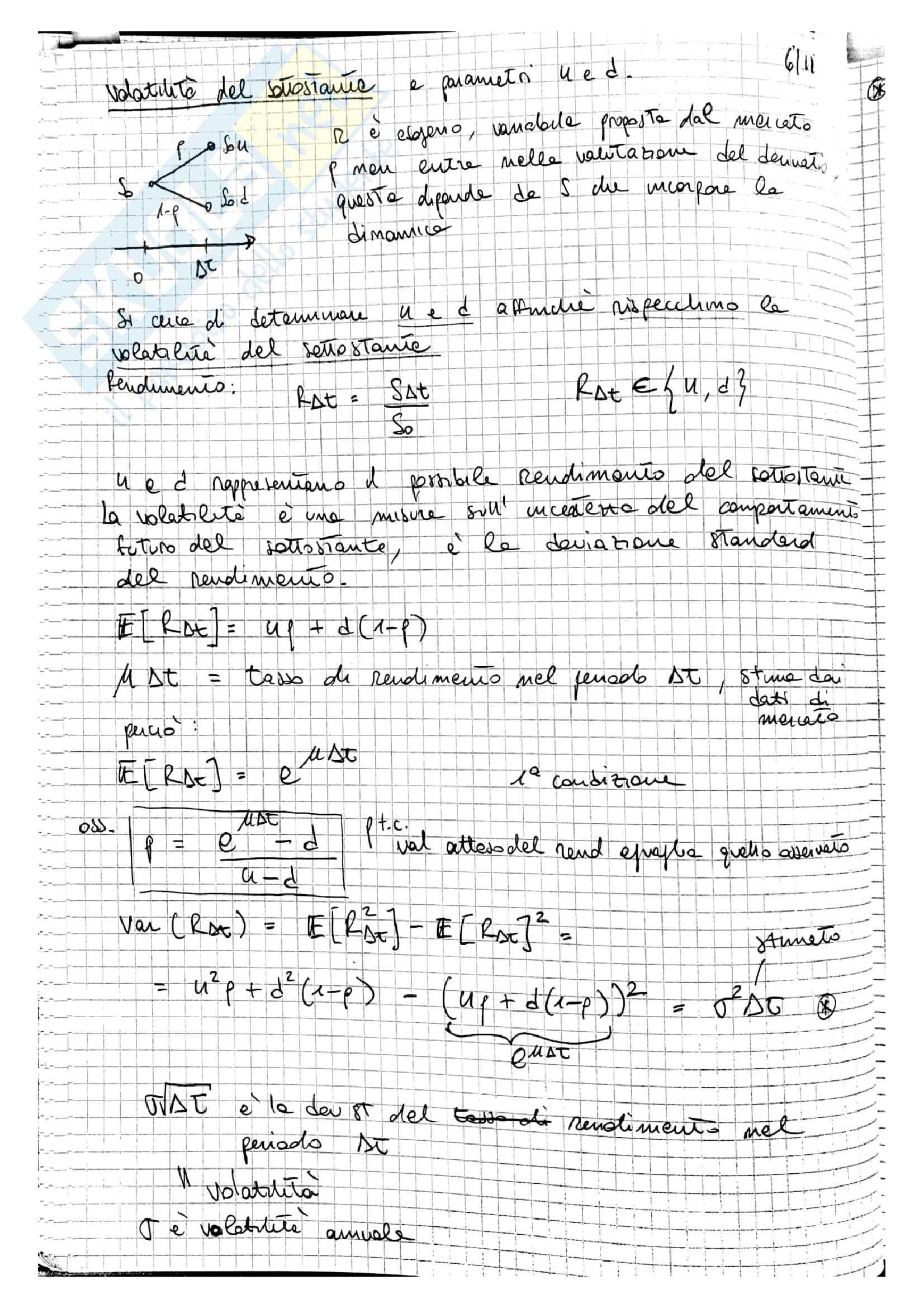 Lezioni Modelli Matematici per la Finanza, prof. Ramponi Pag. 51