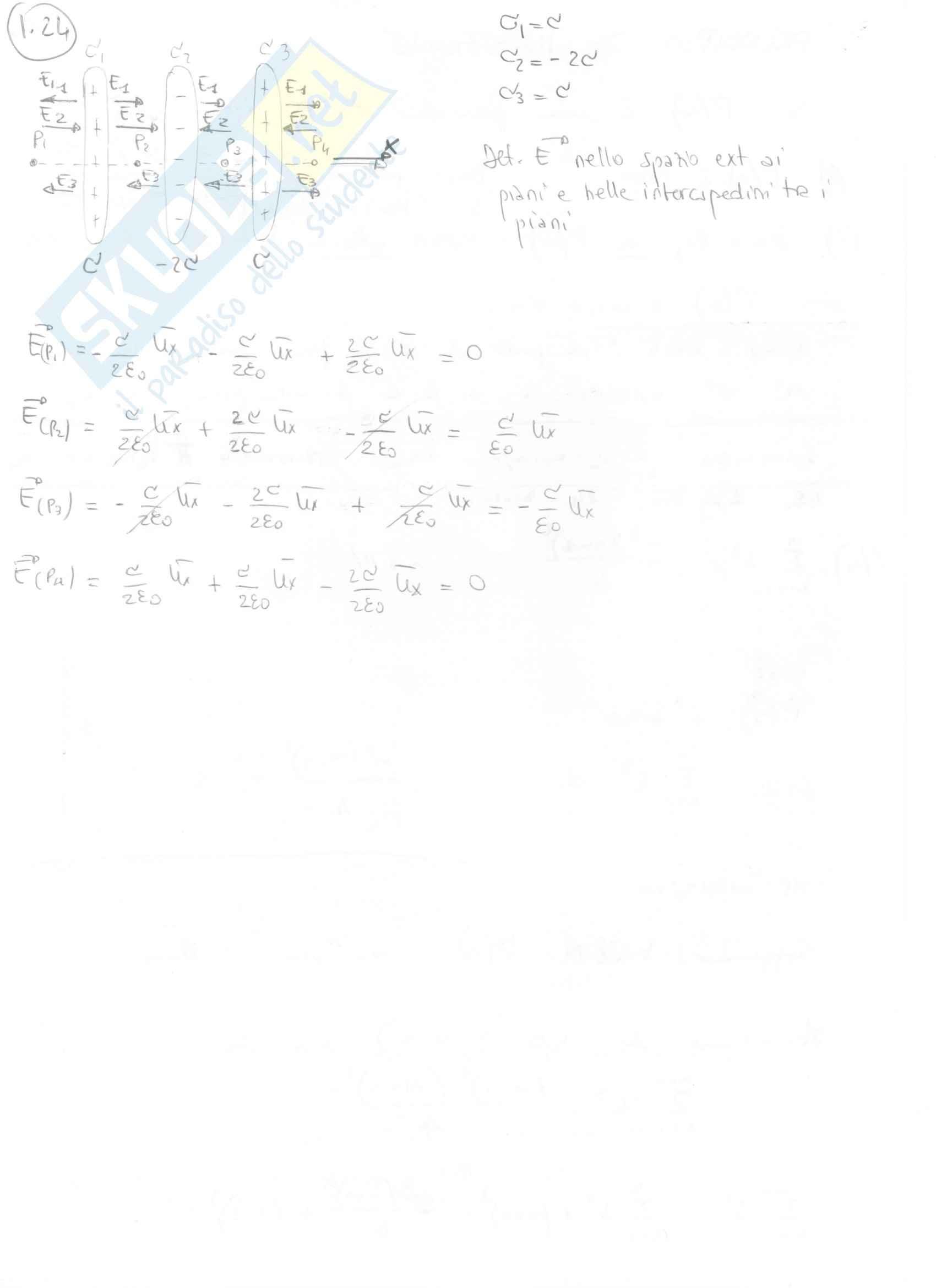 Fisica II - Esercizi svolti capitoli 1 e 2 Pag. 11