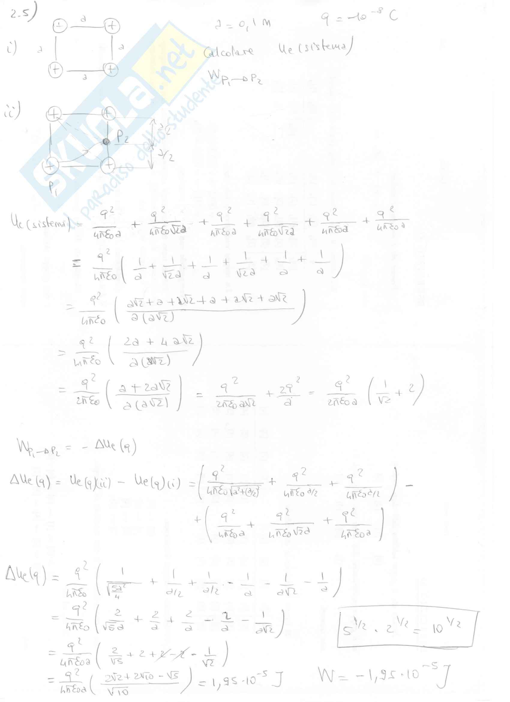 Fisica II - Esercizi svolti capitoli 1 e 2 Pag. 16