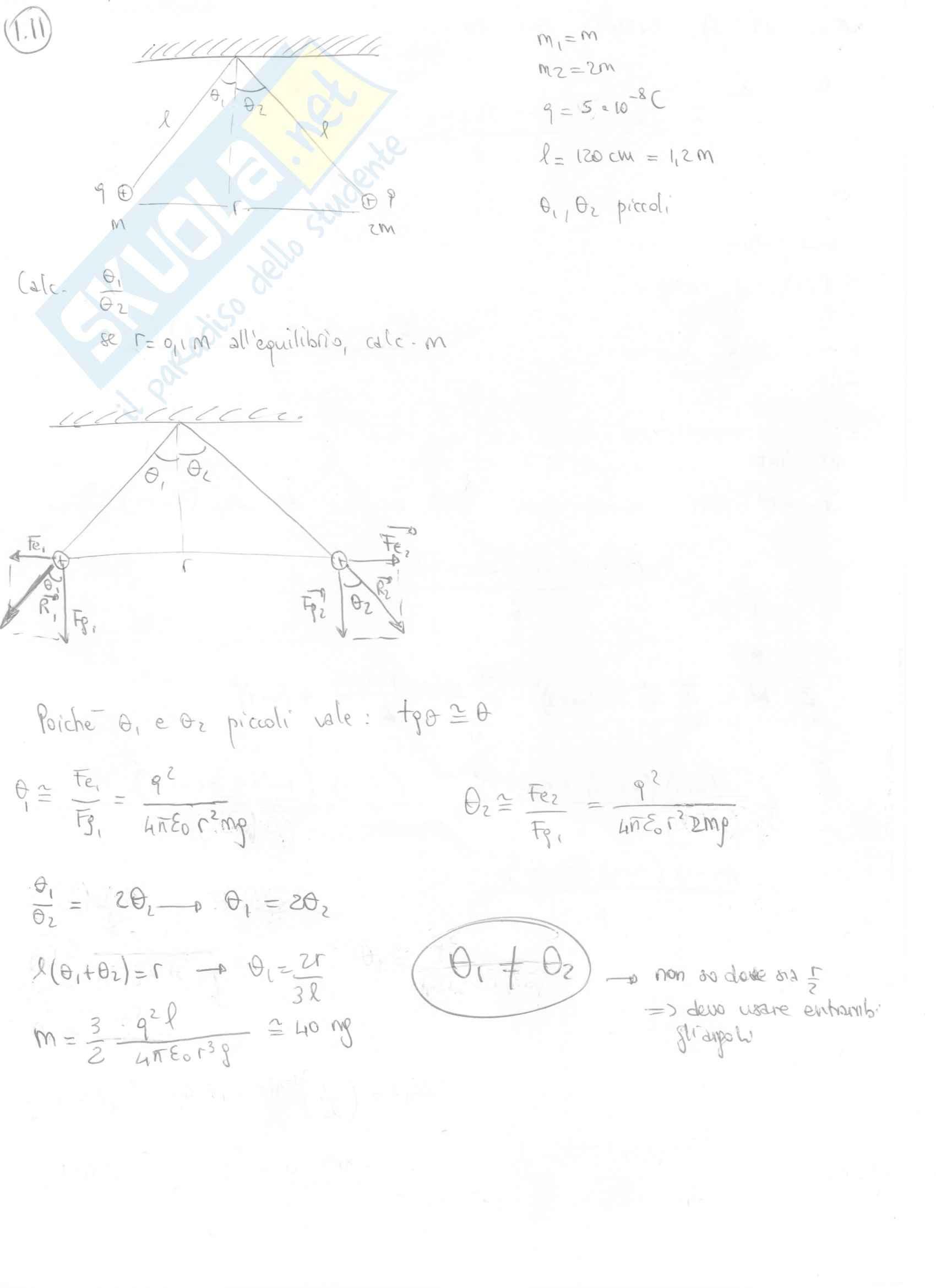 Fisica II - Esercizi svolti capitoli 1 e 2 Pag. 6