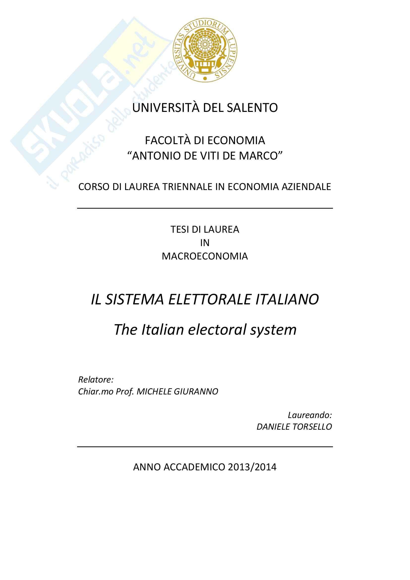 Sistema elettorale italiano