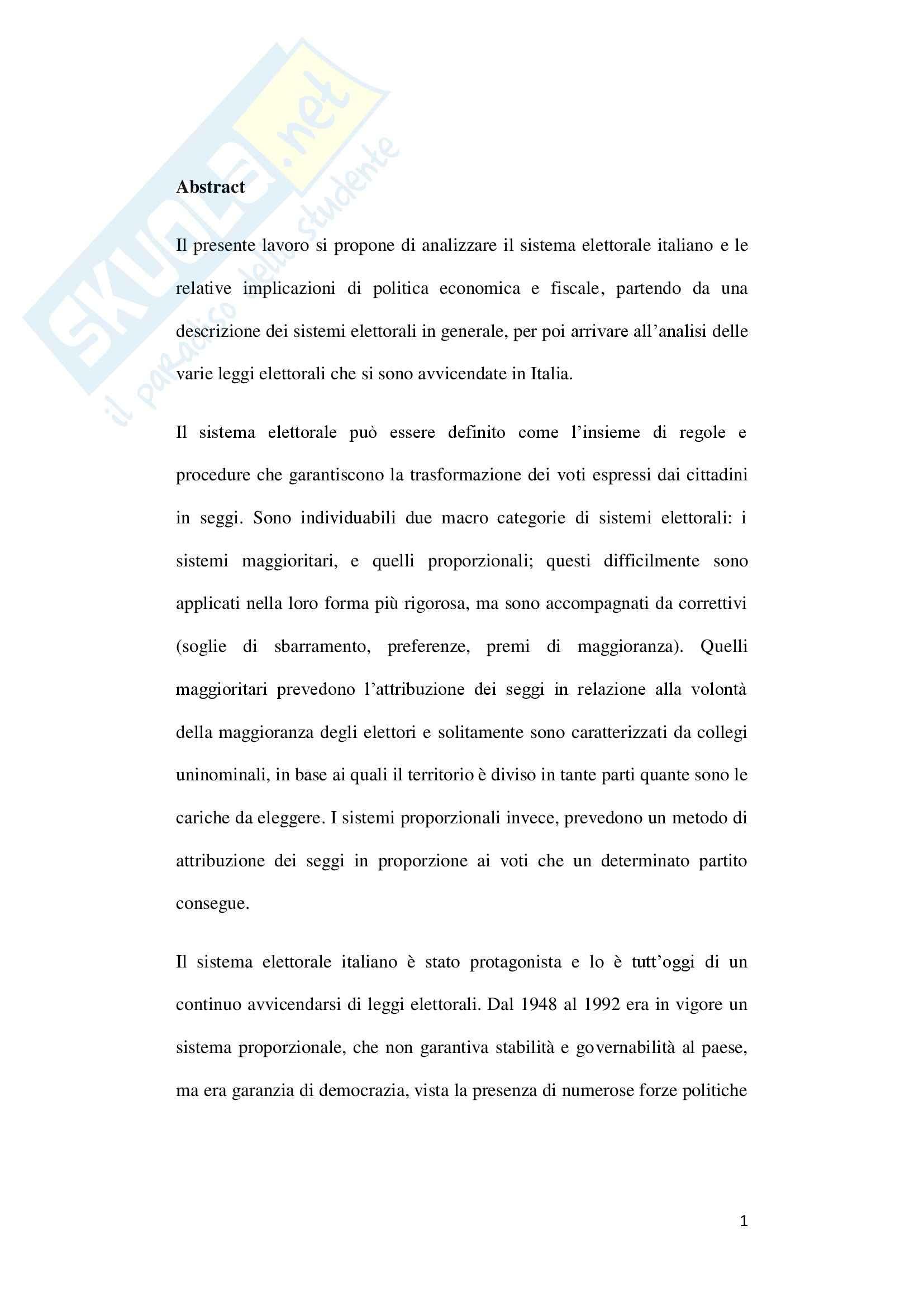 Sistema elettorale italiano Pag. 2