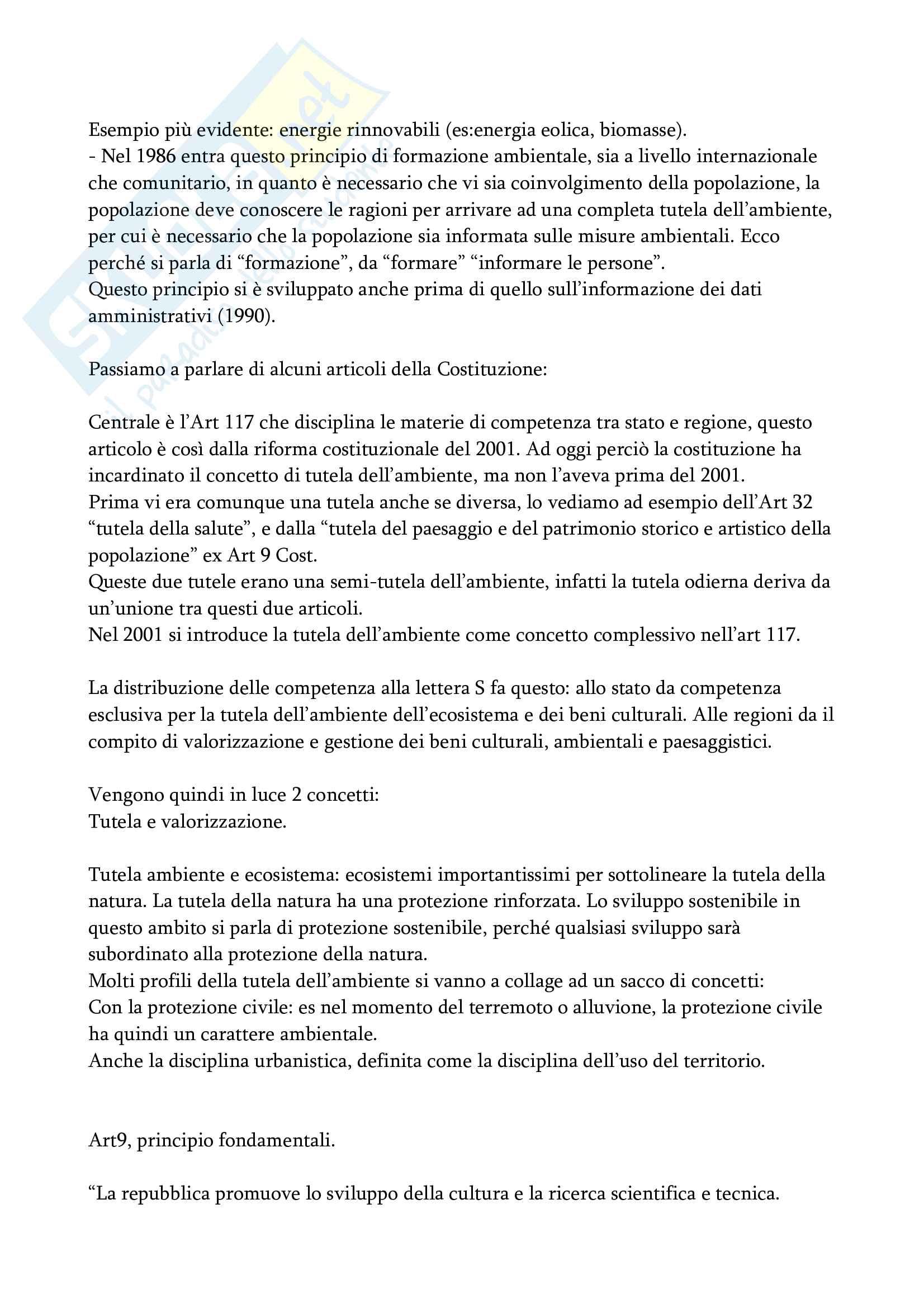 Appunti diritto dell'ambiente e urbanistico completi Pag. 2