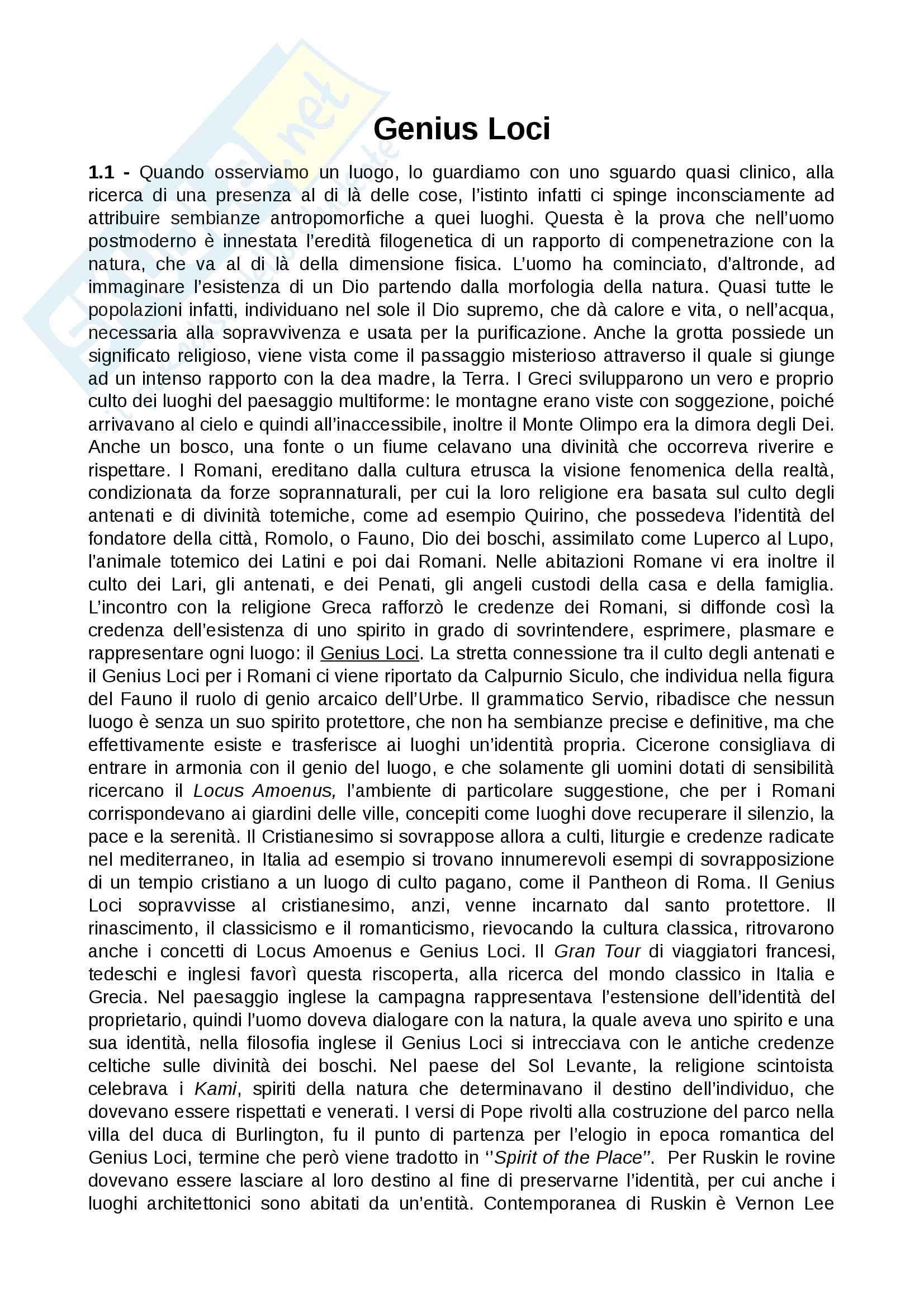 Riassunto esame Sociologia dei processi culturali, prof. Francesco Mattioli, libro consigliato Genius Loci, Mattioli