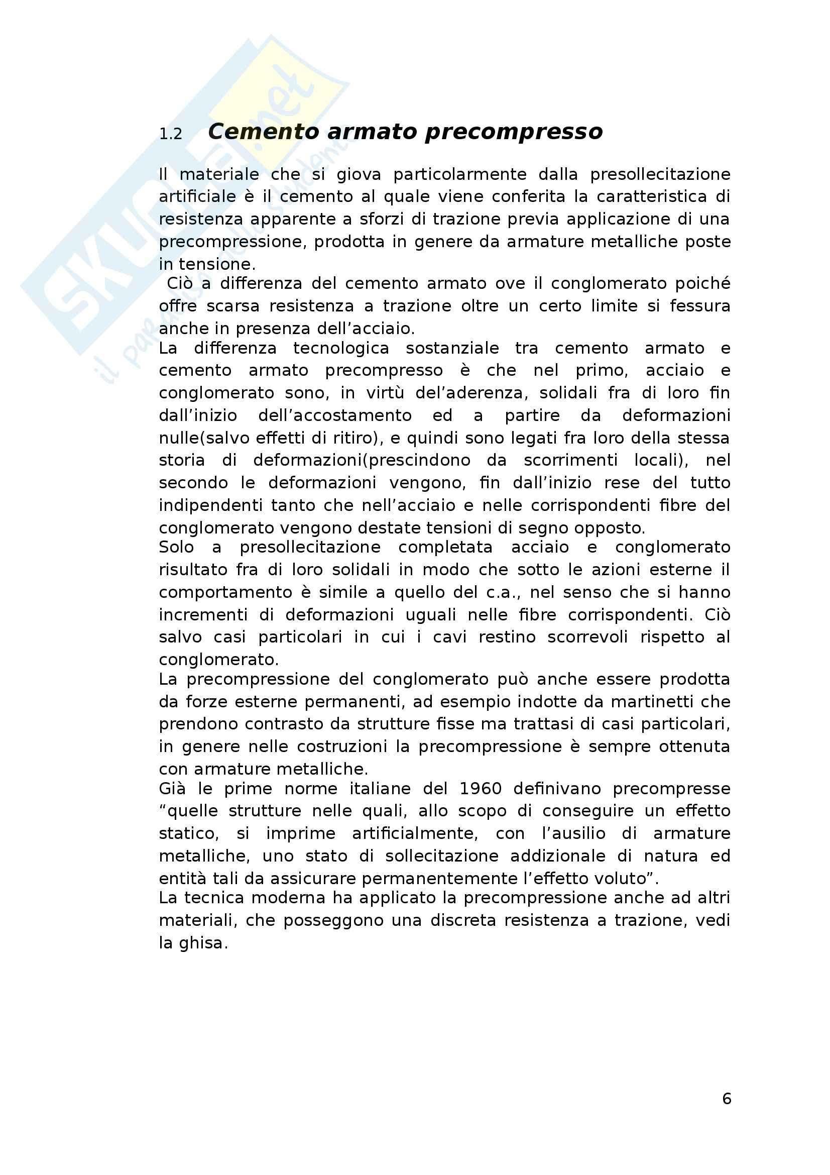Tesi - Verifiche di travi in calcestruzzo armato precompresso secondo il D.M. 09/01/1996 e il D.M. 14/01/2008 Pag. 6